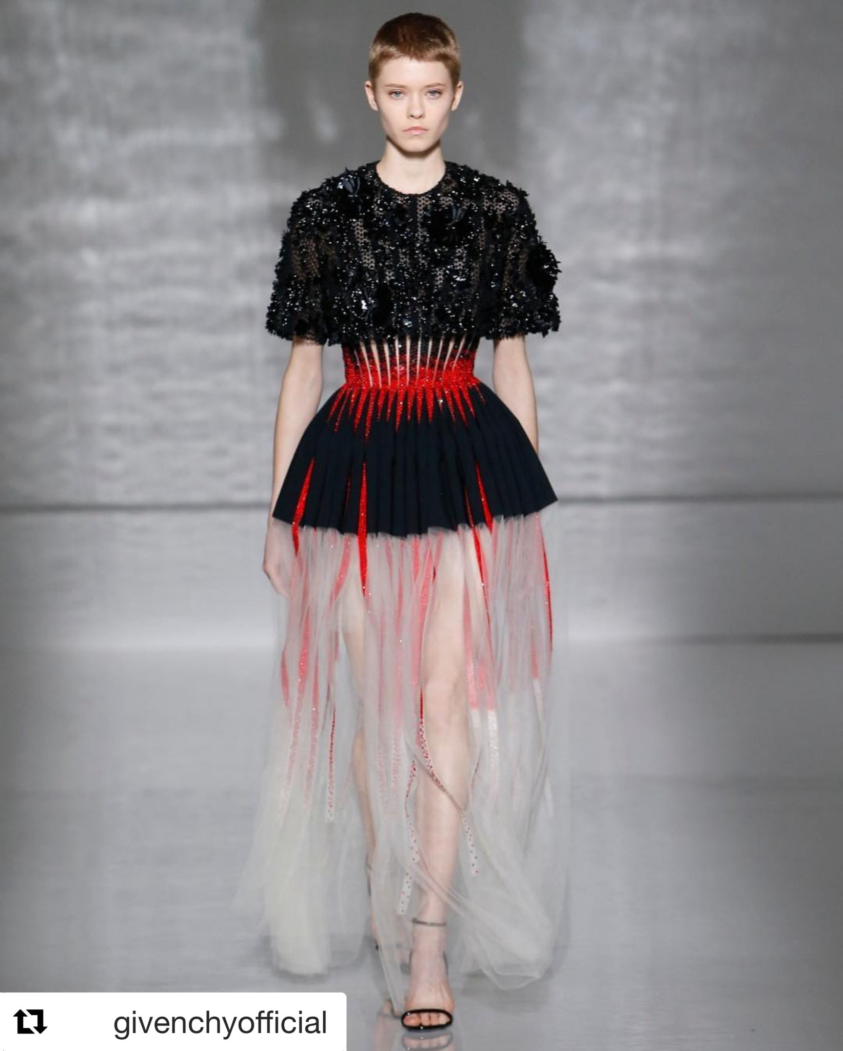MAIKE INGA during HAUTE COUTURE Shows in PARIS for VALENTINO ...