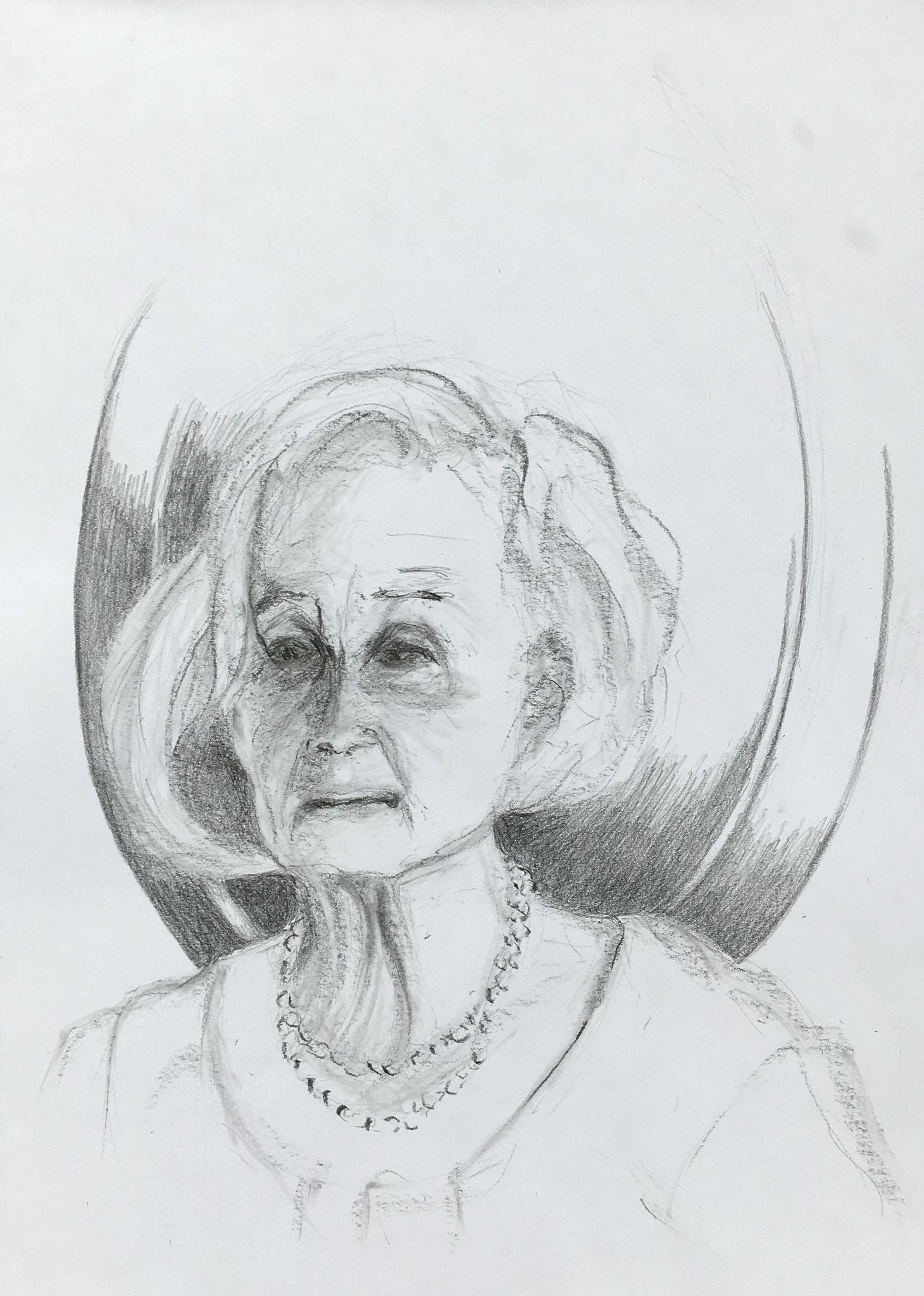 Regina K. (1), 2019, Zeichnung, 40 x 30 cm (#1020)