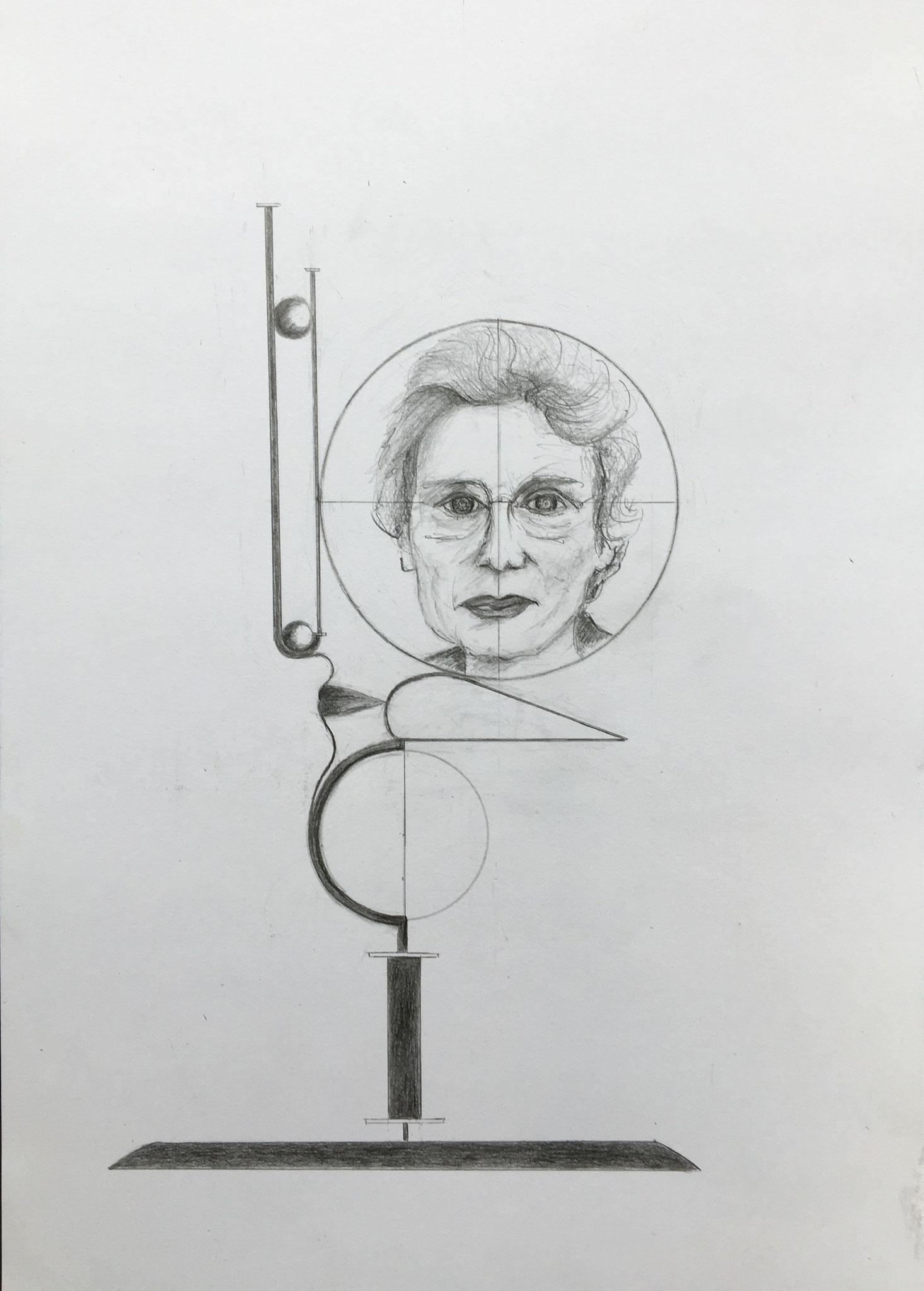 Karin von Maur, 2019, Zeichnung, 40 x 30 cm (#1019)