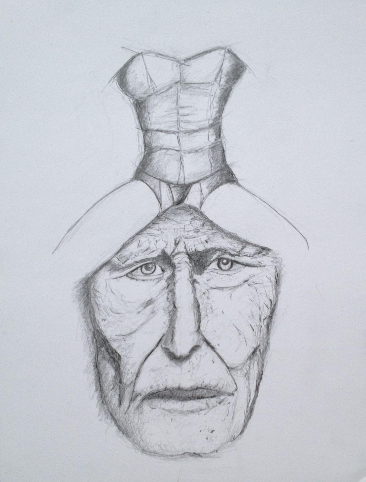 Tomi Ungerer, 2019, Zeichnung, 40 x 30 cm (#1005)