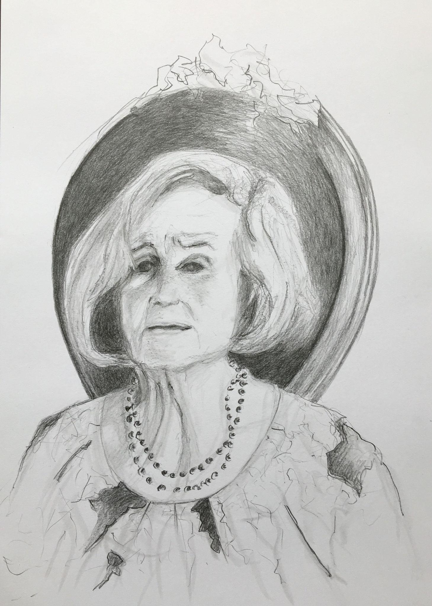 Regina K. (2), 2019, Zeichnung, 40 x 30 cm (#1021)