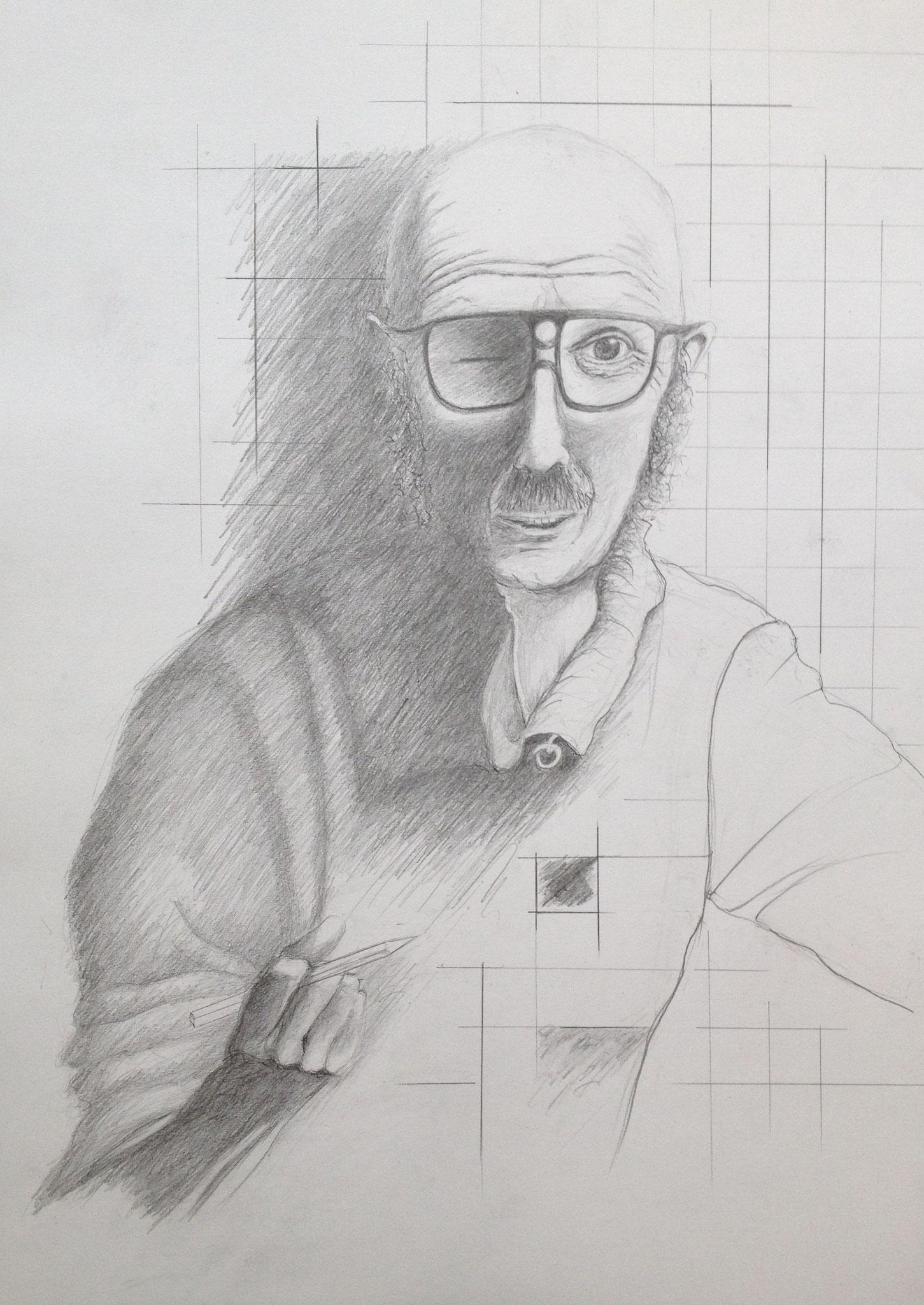 Der Zeichner Lude Döring, 2019, Zeichnung, 70 x 50 cm (#997)