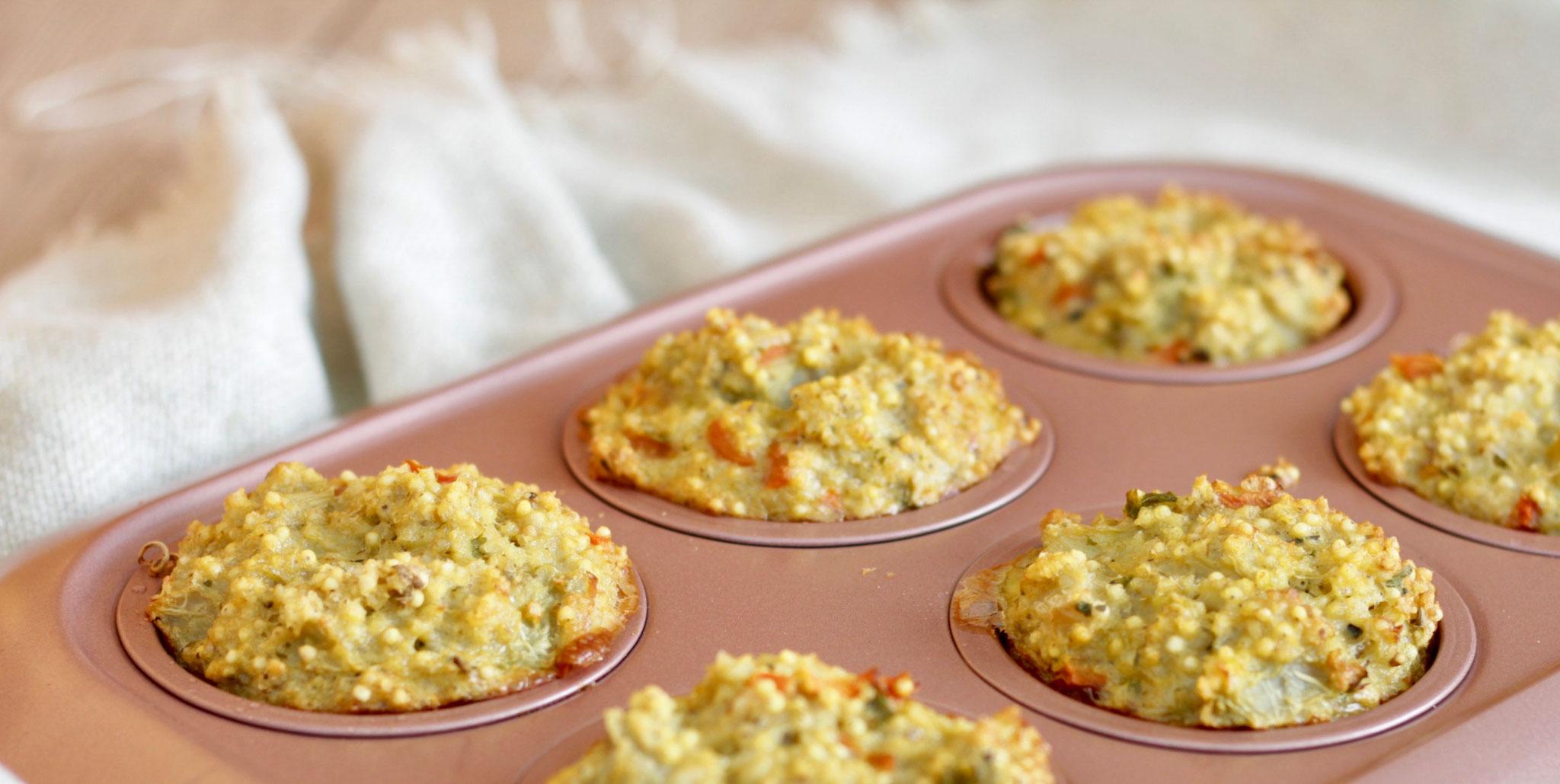Hirse-Gemüsemuffins