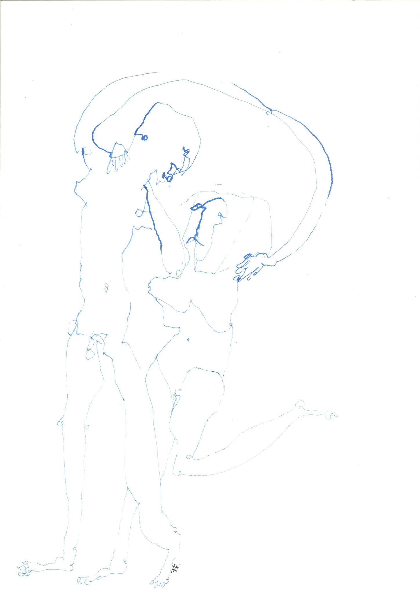 Tanz mit mir 2018 Tusche 29,7 x 42 cm