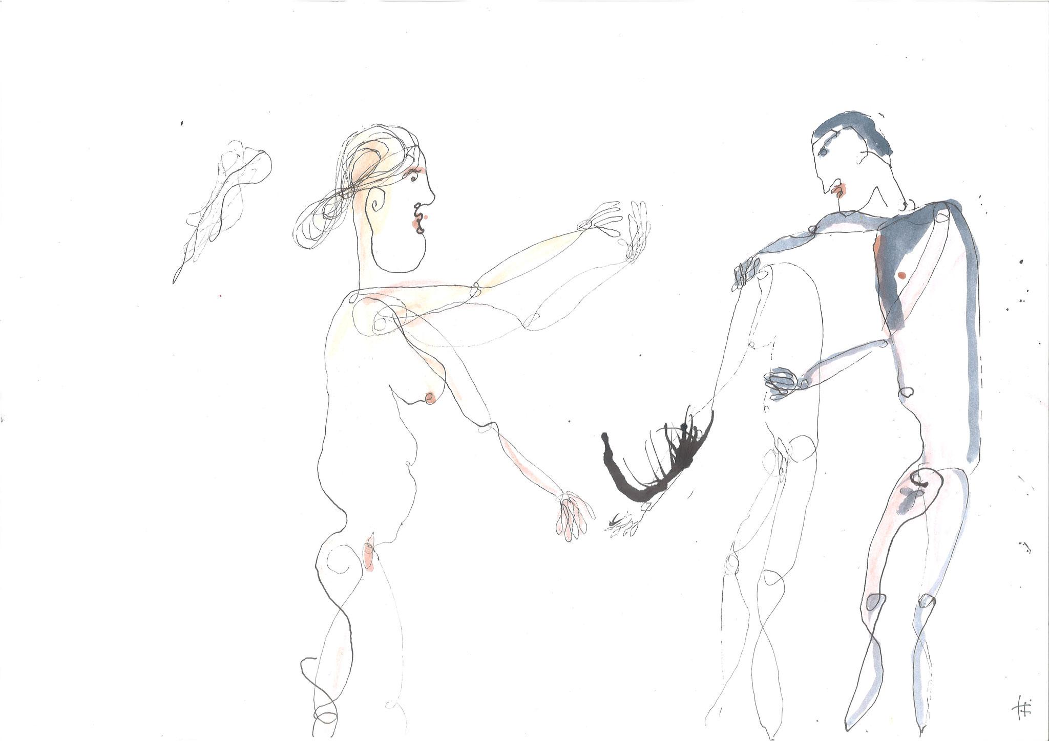 Für jeden etwas 2016, Tusche, 42 x 29,7 cm