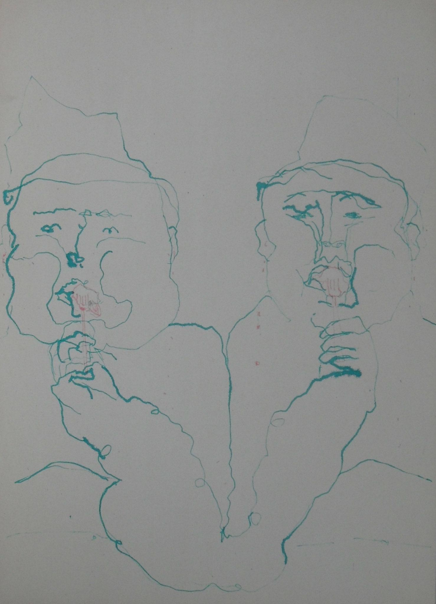 Gier 2016 Tusche 29,7x 42 cm