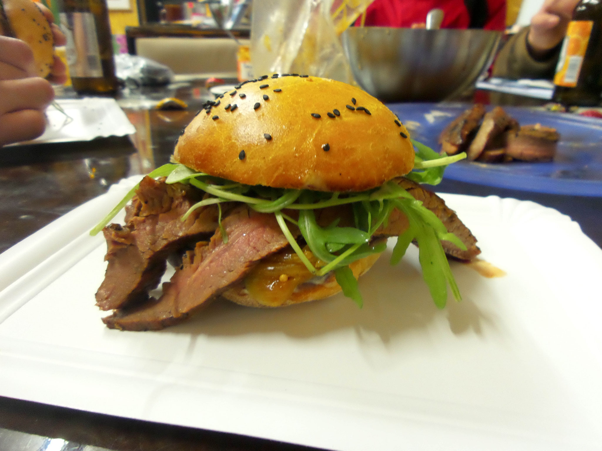 Flank Steak Burger ale-x-bbq