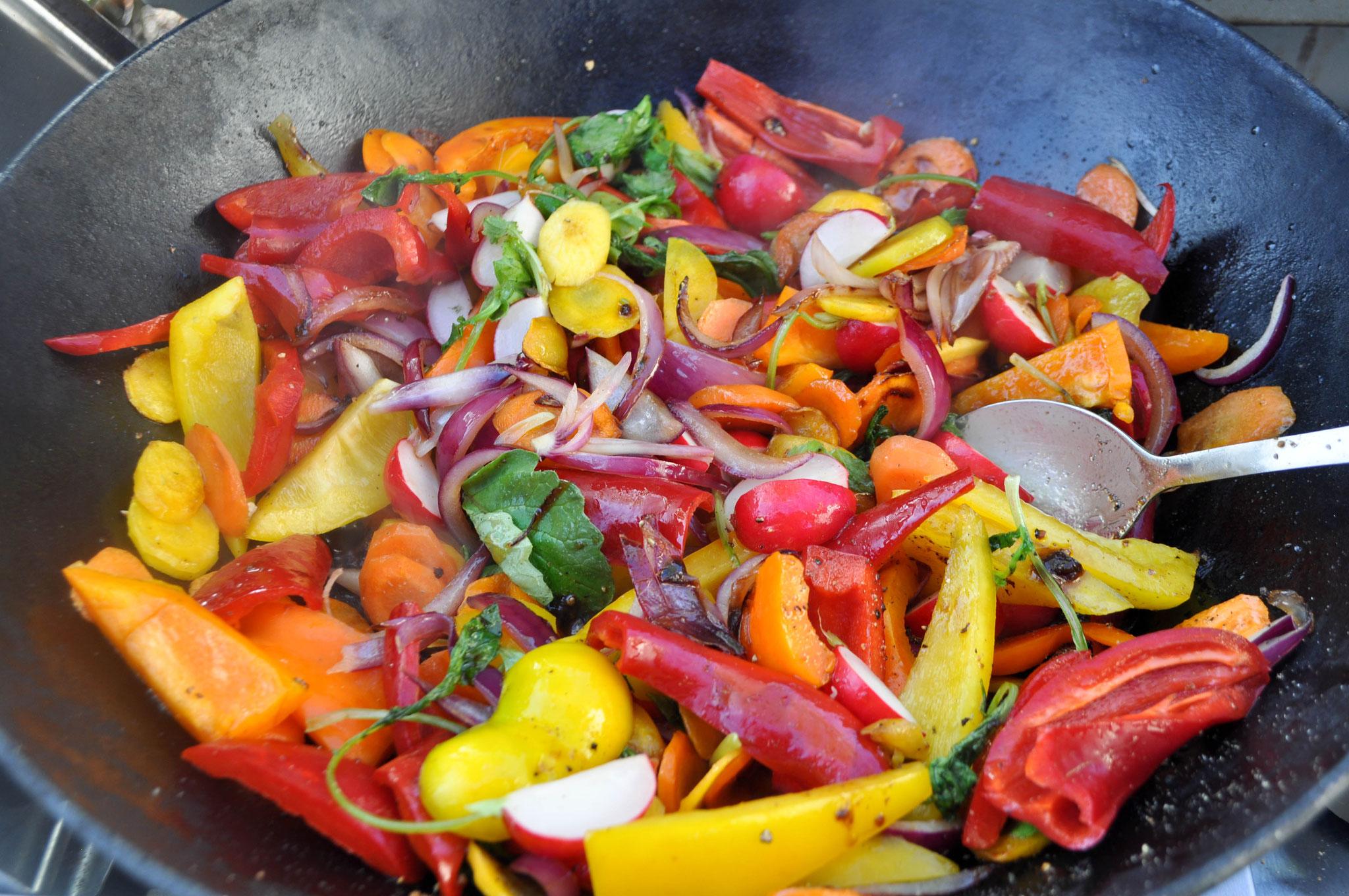 Gemüse Wok Pfanne ALE-X-BBQ