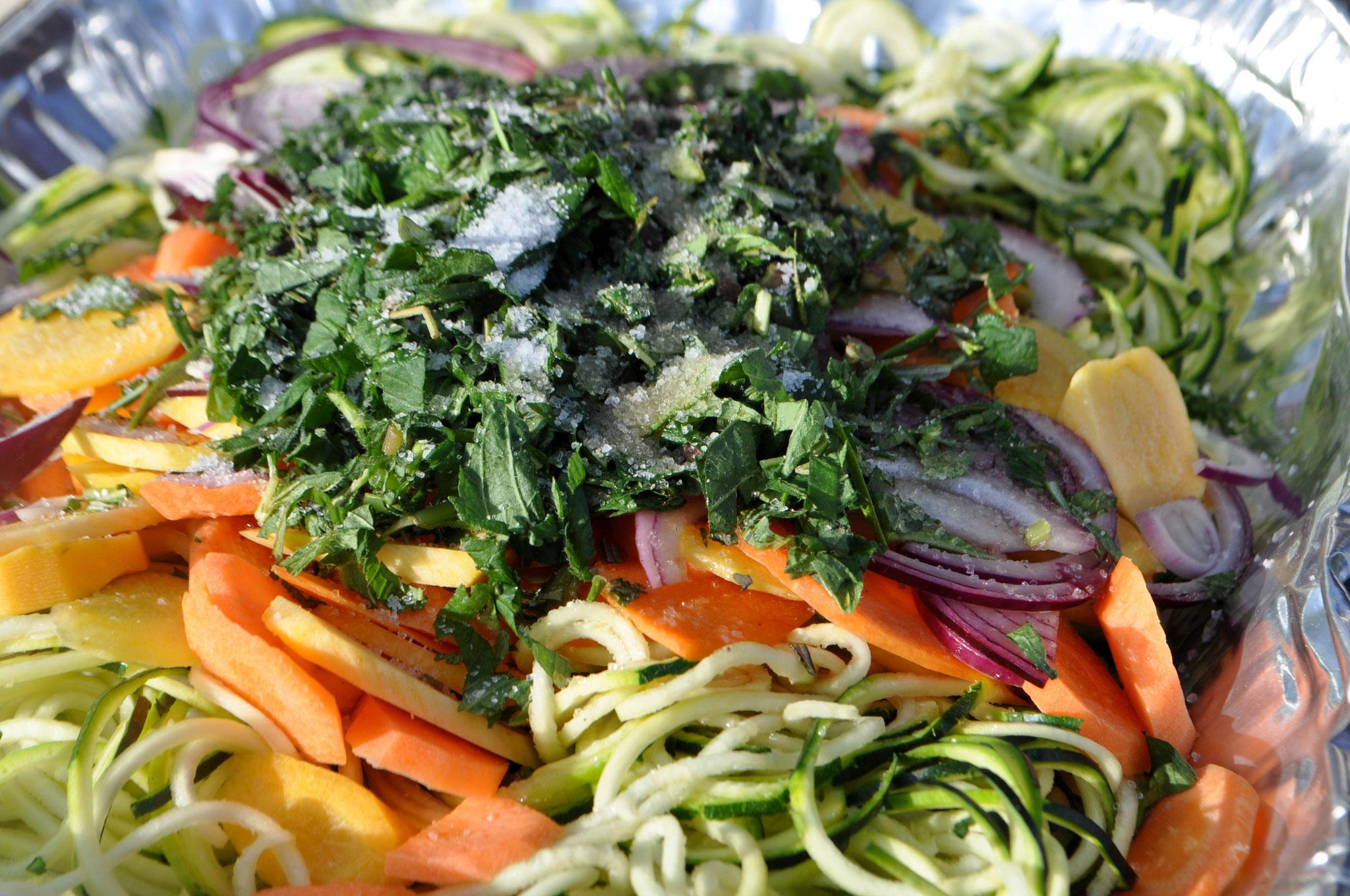Zucchini Karotten Spaghetti ALE-X-BBQ