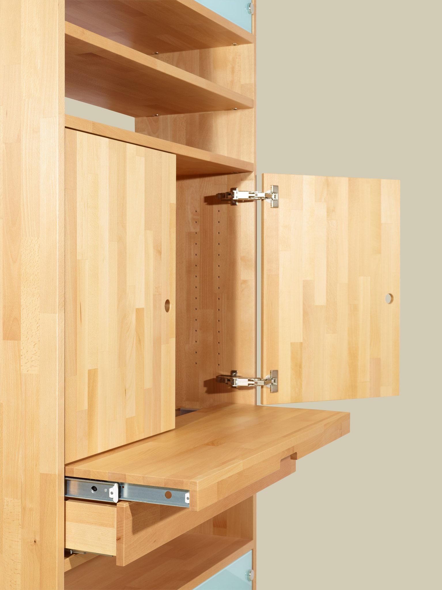 Regale Buchregale Raumteiler Einbauregal - buchenblau – Möbel