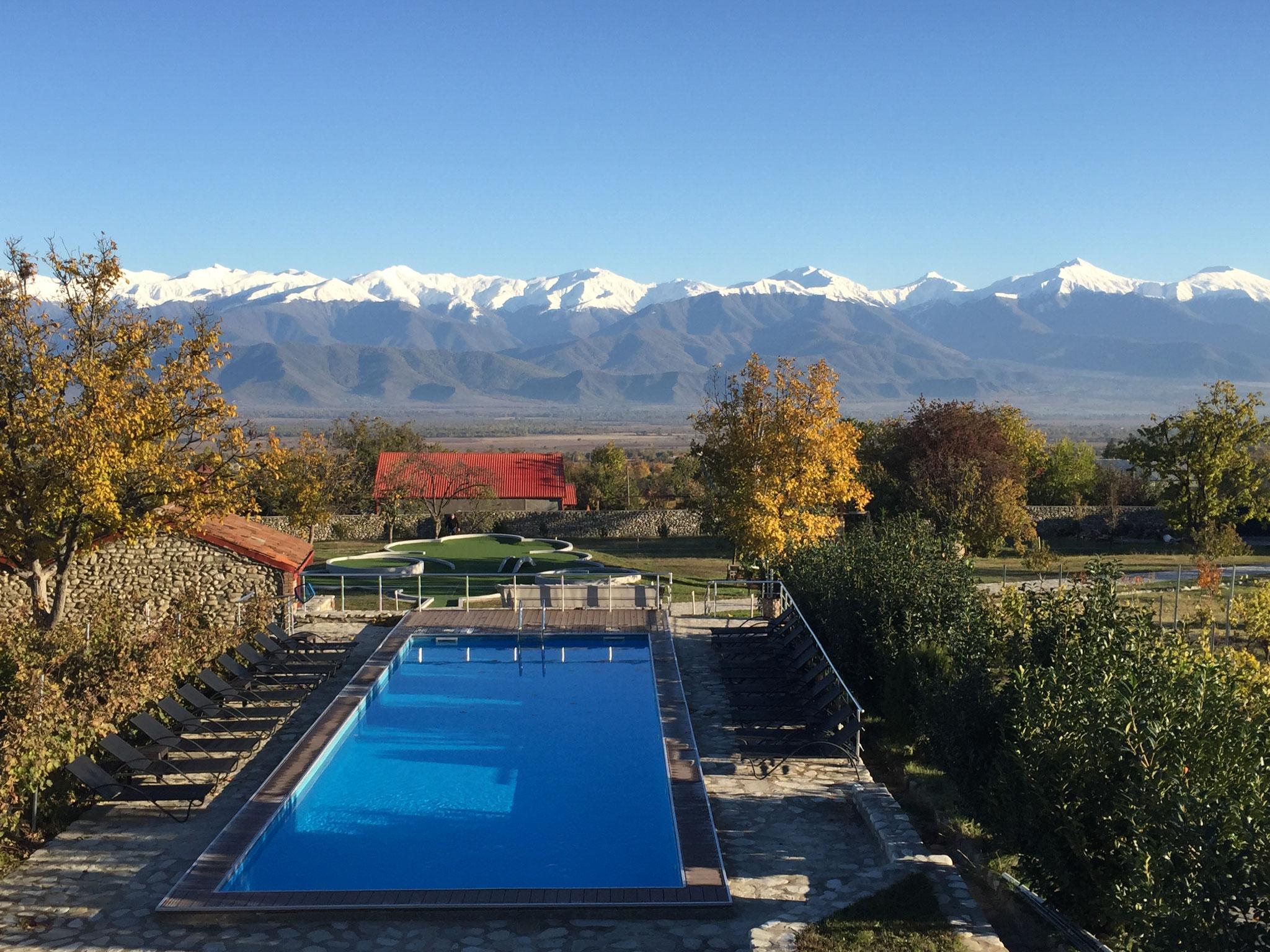 Swimmingpool im Chateau Schuchmann