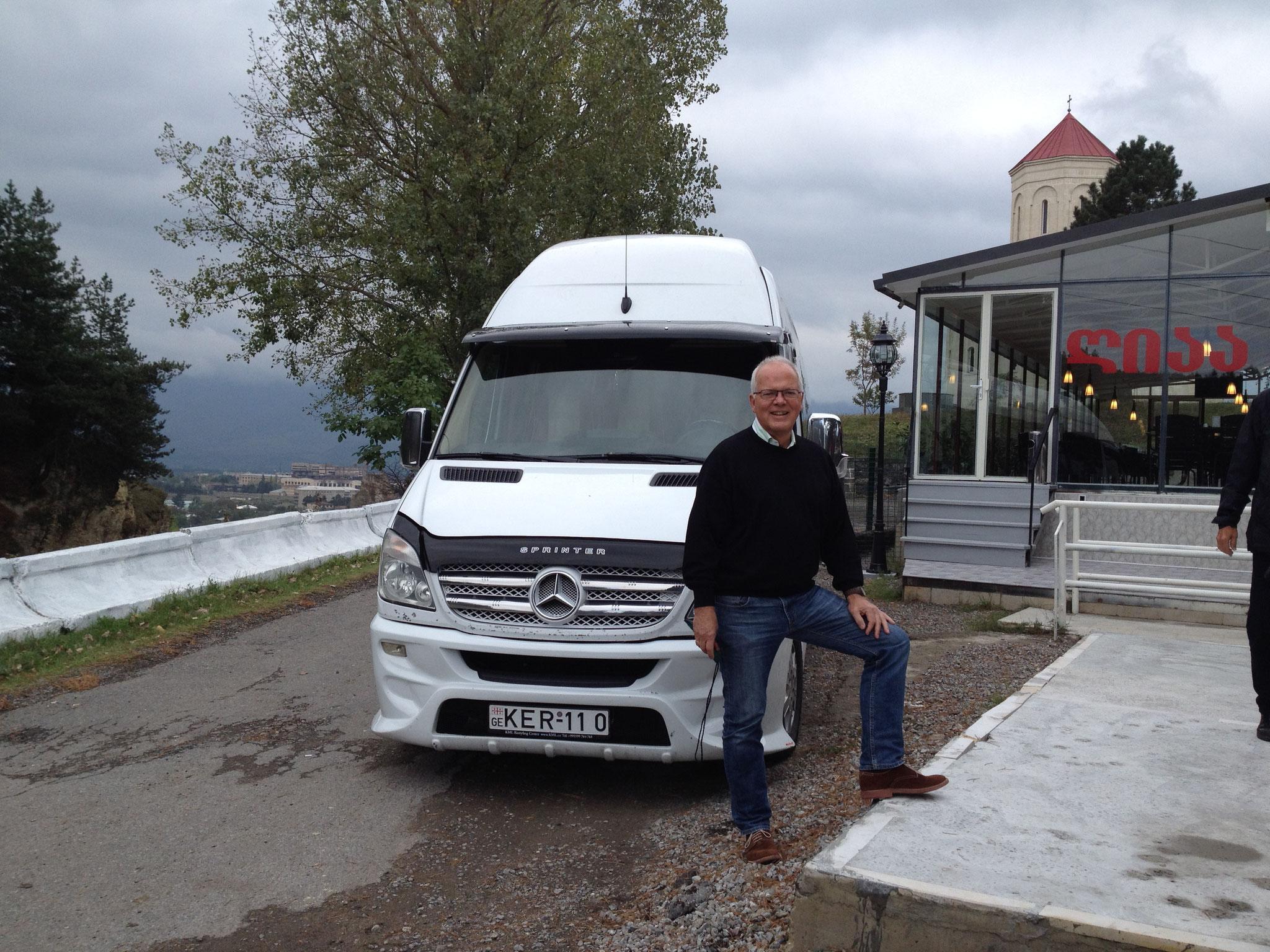 Unser Minibus mit Torsten Koehler