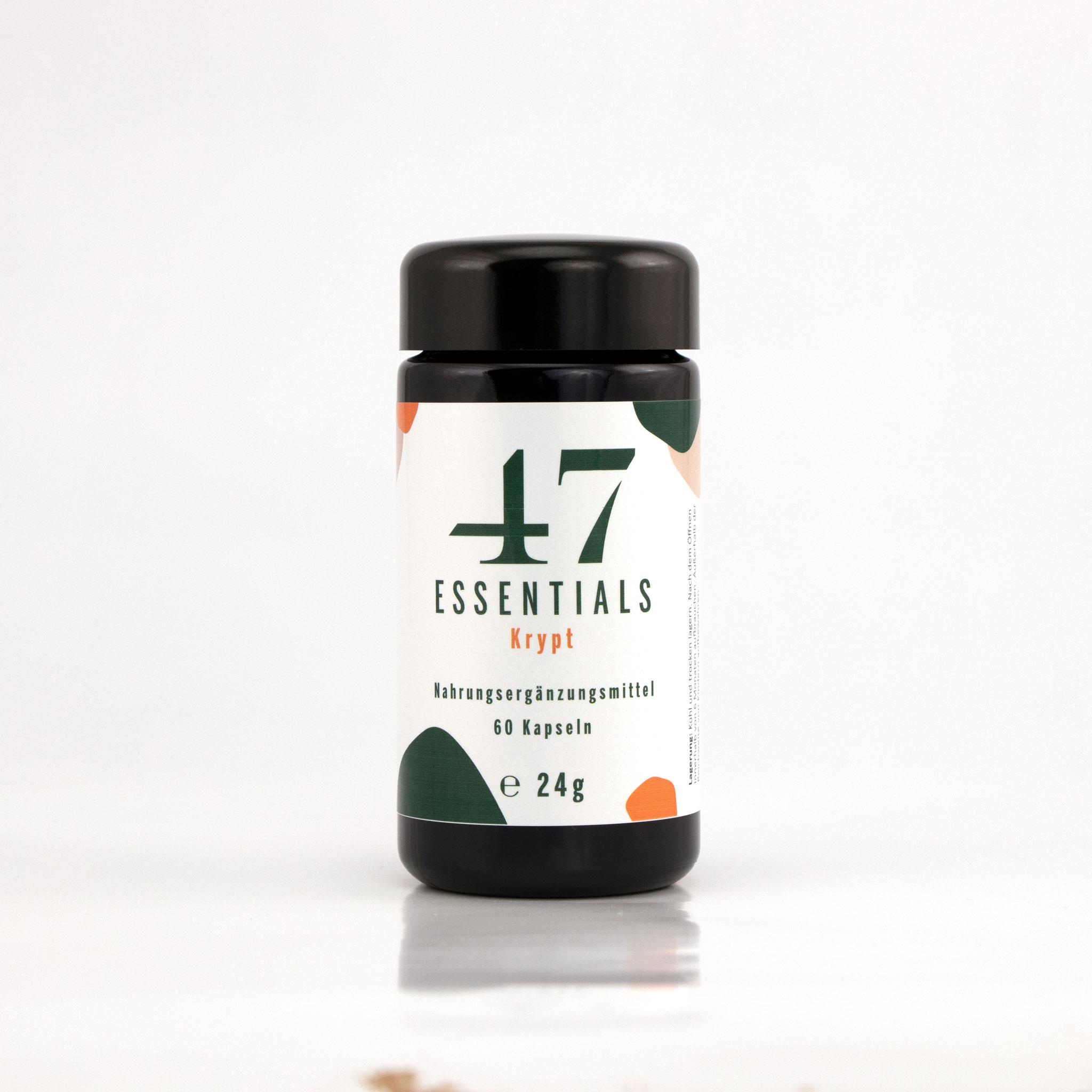 Krypt 60 Kapseln (Für Ihre 360 Grad Gesundheit)     € 31,00           Klicken Sie hier um mehr über das Produkt zu erfahren