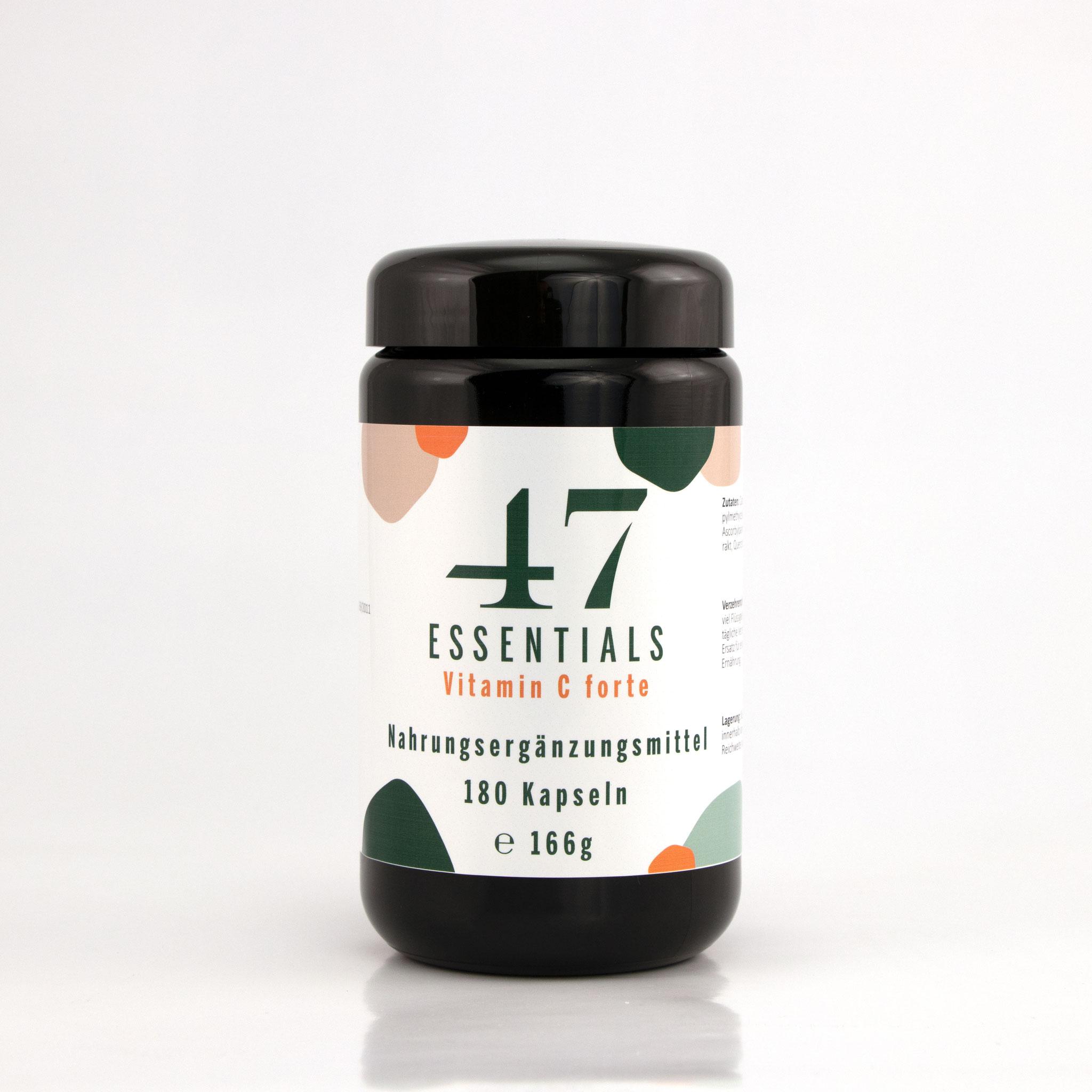 Vitamin C forte 180 Kapseln (Kurzer Prozess für freie Radikale)     € 47,00           Klicken Sie hier um mehr über das Produkt zu erfahren