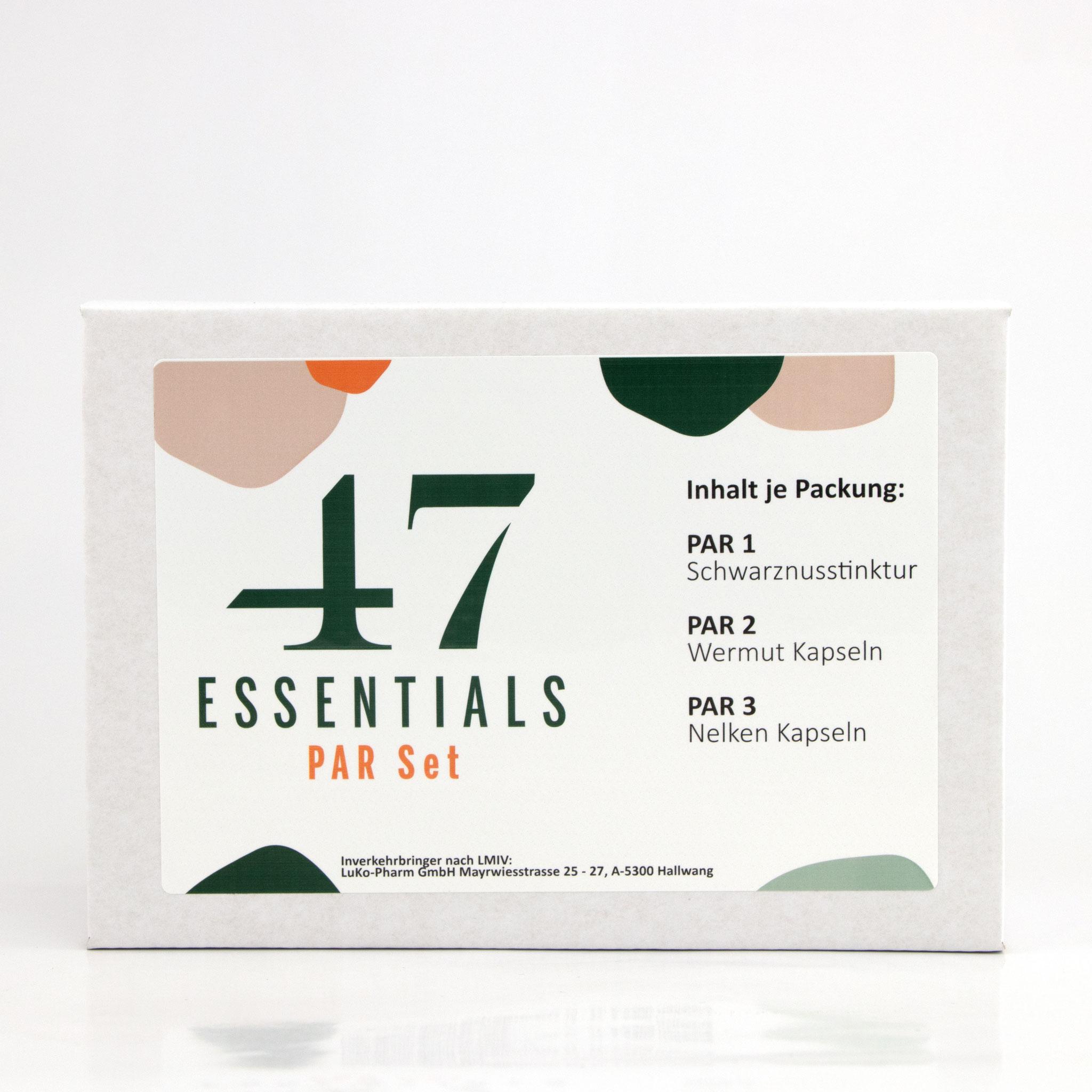 PAR Set 100 ml 120 u. 180 Kapseln (Das Kraft-Trio aus der Natur)  PAR Set bestehend aus: PAR 1, PAR 2, PAR 3     € 79,00           Klicken Sie hier um mehr über das Produkt zu erfahren
