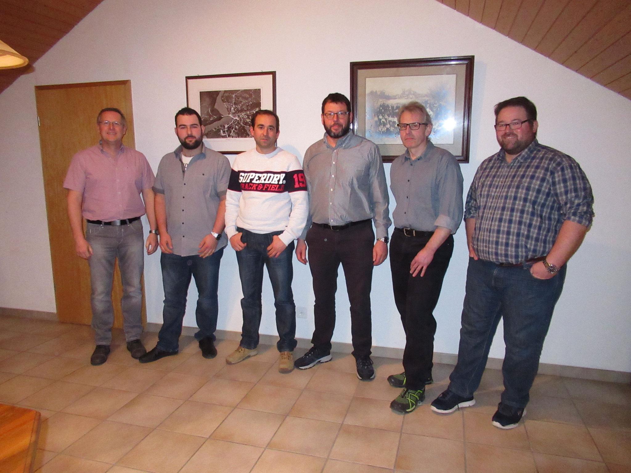 Der neu zusammengesetzte Vorstand: Reto Müller, David Schulthess, Maik Siegrist, Beat Bolliger, Daniel Graf und Martin Buchmüller. Es fehlt Tobias Wälti