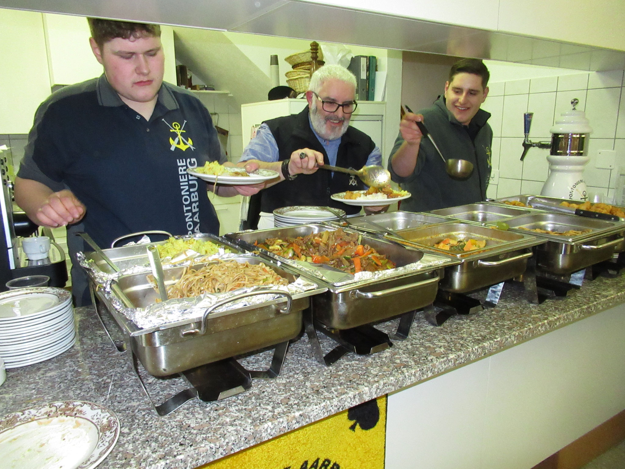 Das Küchenteam: Familie Taglioli