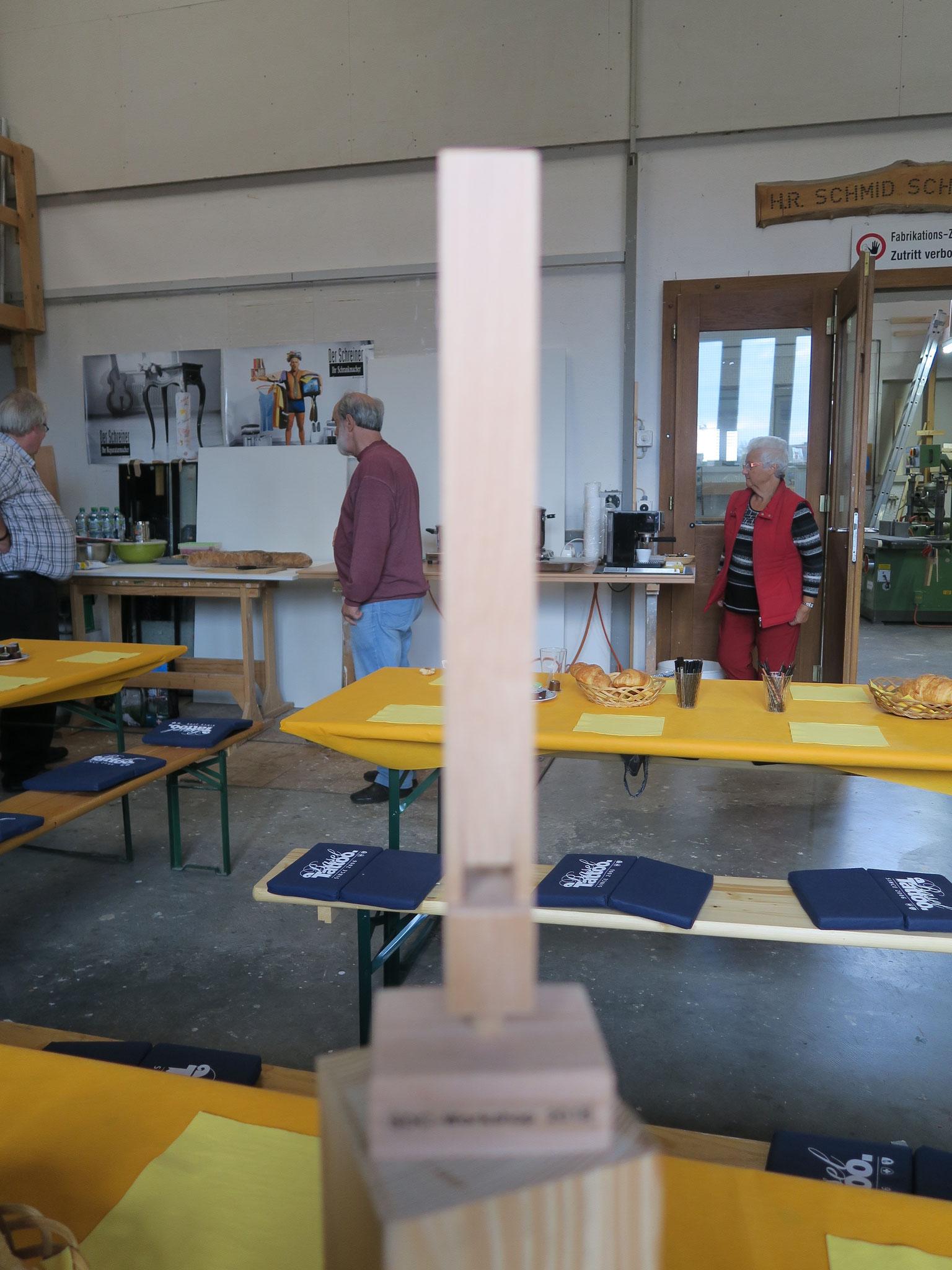 Das heutige Ziel: Jeder Teilnehmer baut sich eine Orgelpfeife