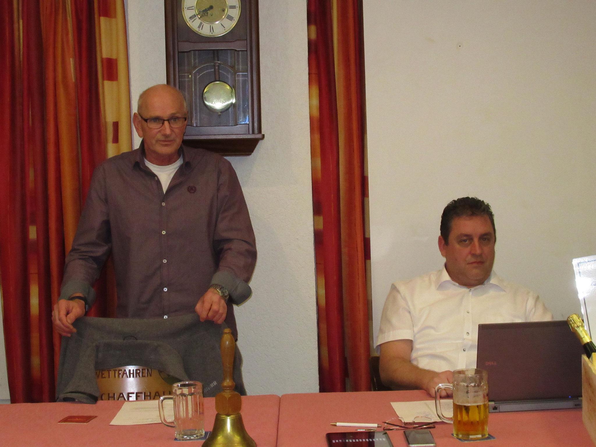 Tagespräsident Beat Graber führt durch das Traktandum Wahlen