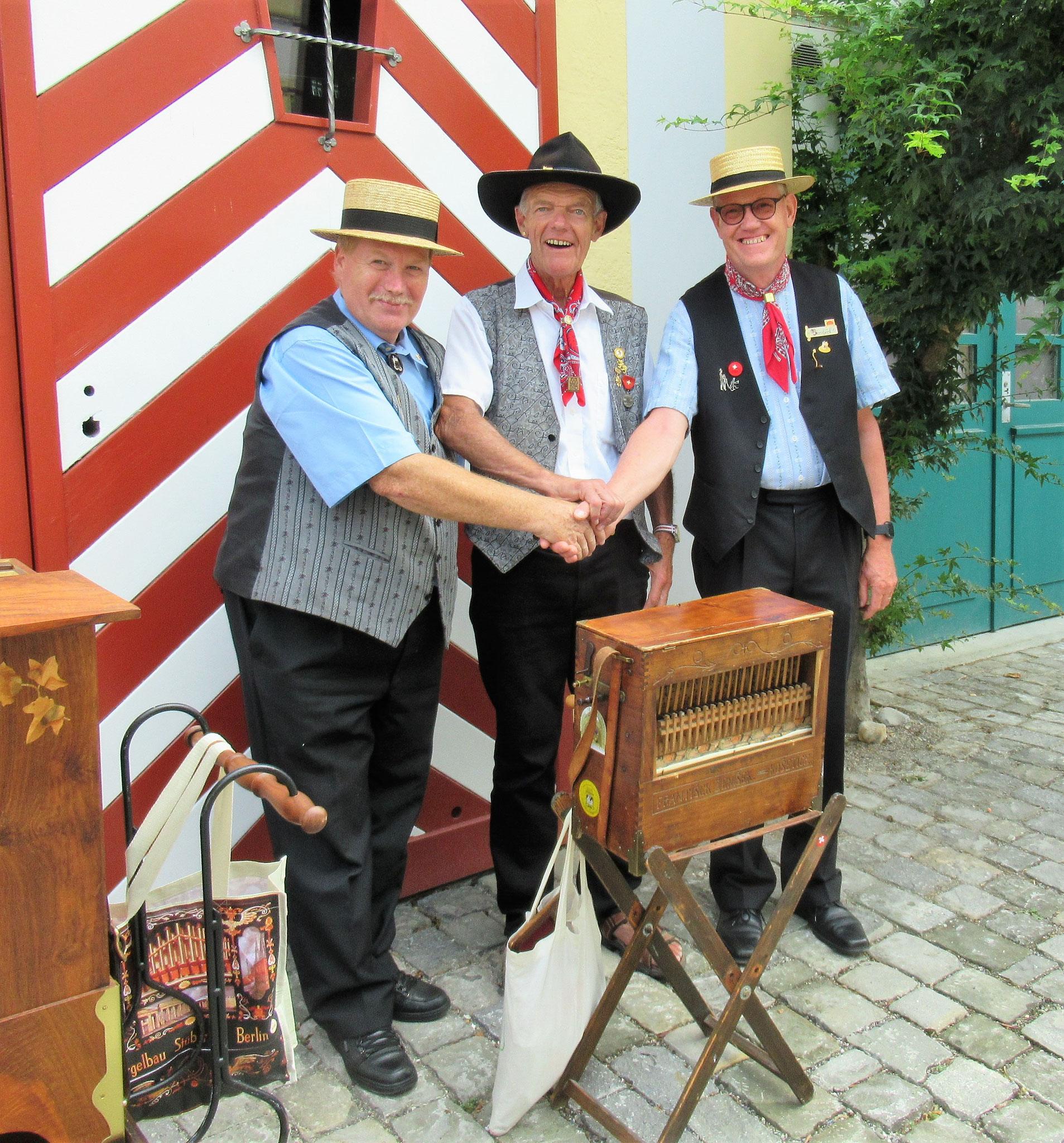 """Die 3 """"Musketiere"""" Bernhard's"""