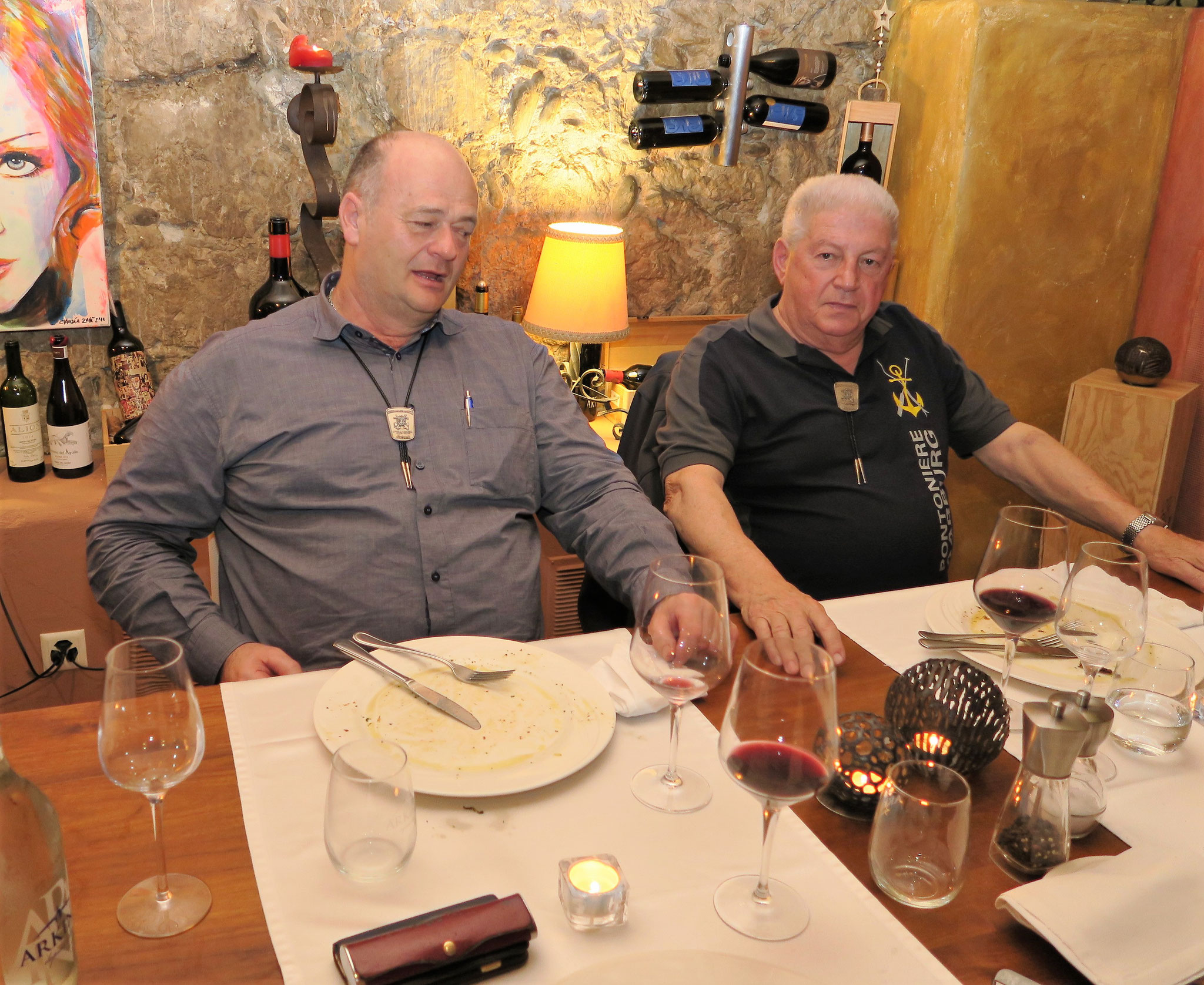 Zufriedene Gesichter Heinz Wälti und Hugo Schaub