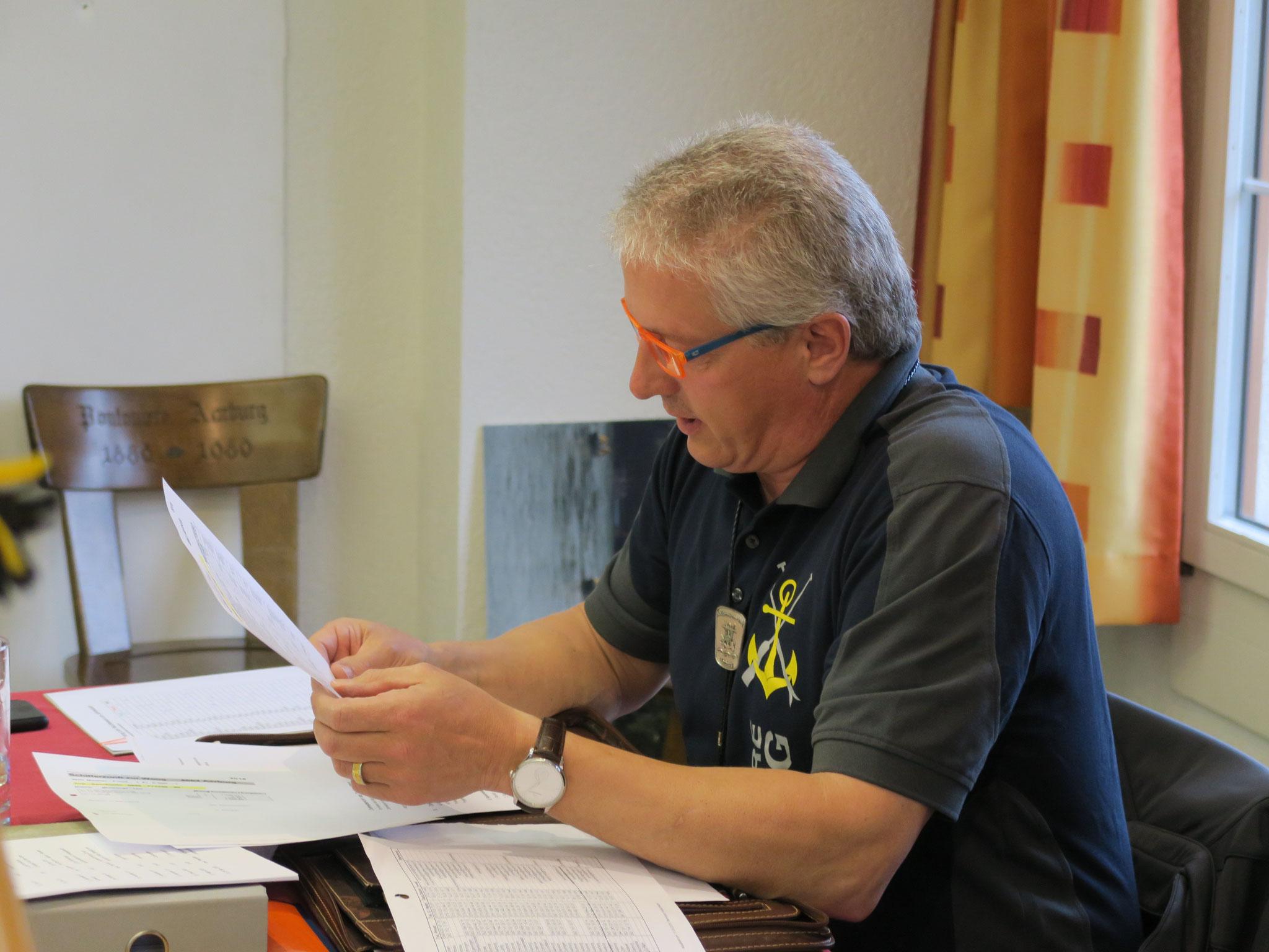 Säckelmeister Dieter Schaub