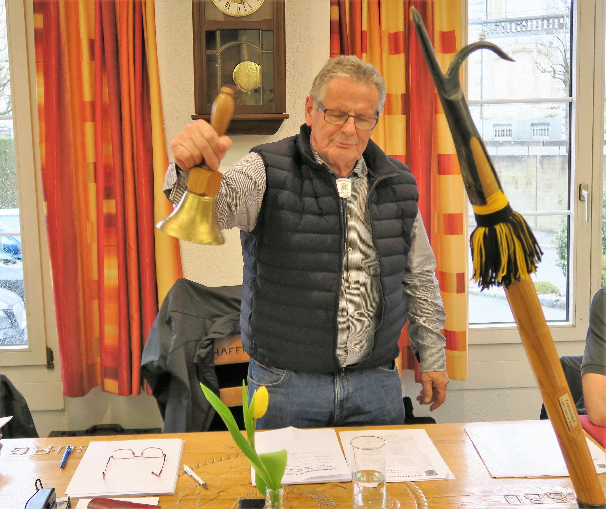 Tageszunftmeister Jörg Richner ruft zu den heutigen Wahlen auf,