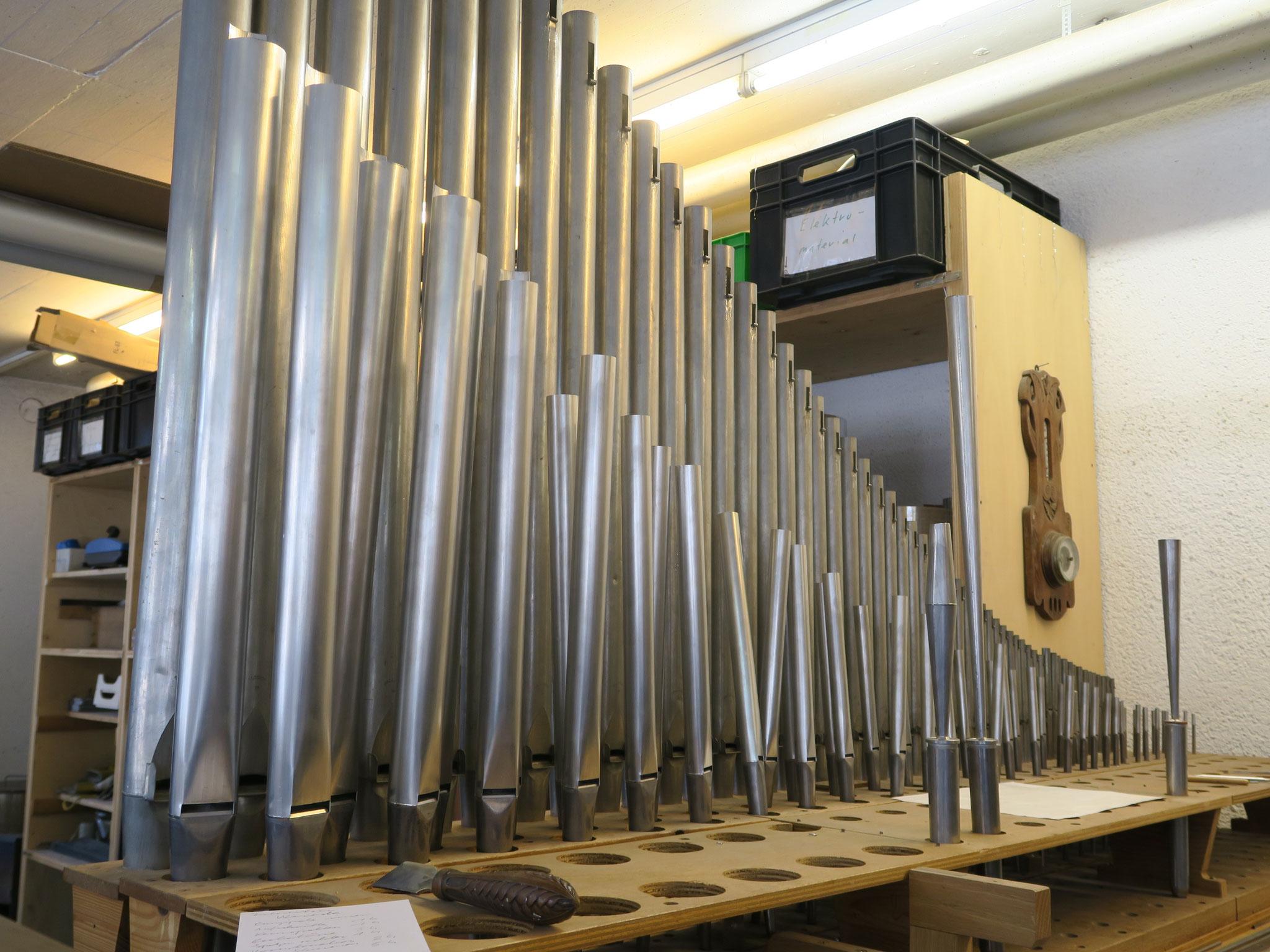 In der Werkstatt des Zinnpfeifenbauer Marco Veneconi