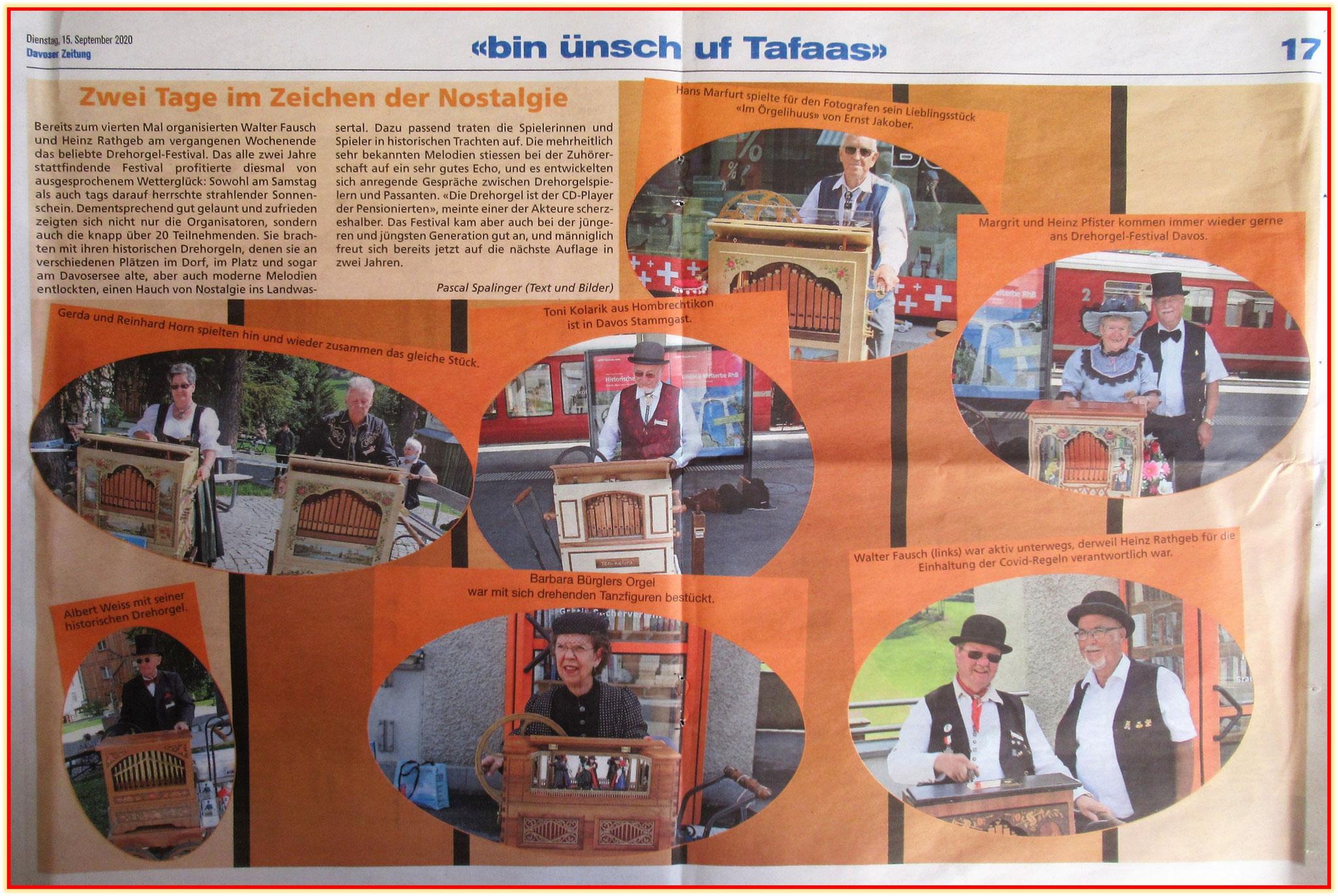 Der Bericht in der Davoser Zeitung