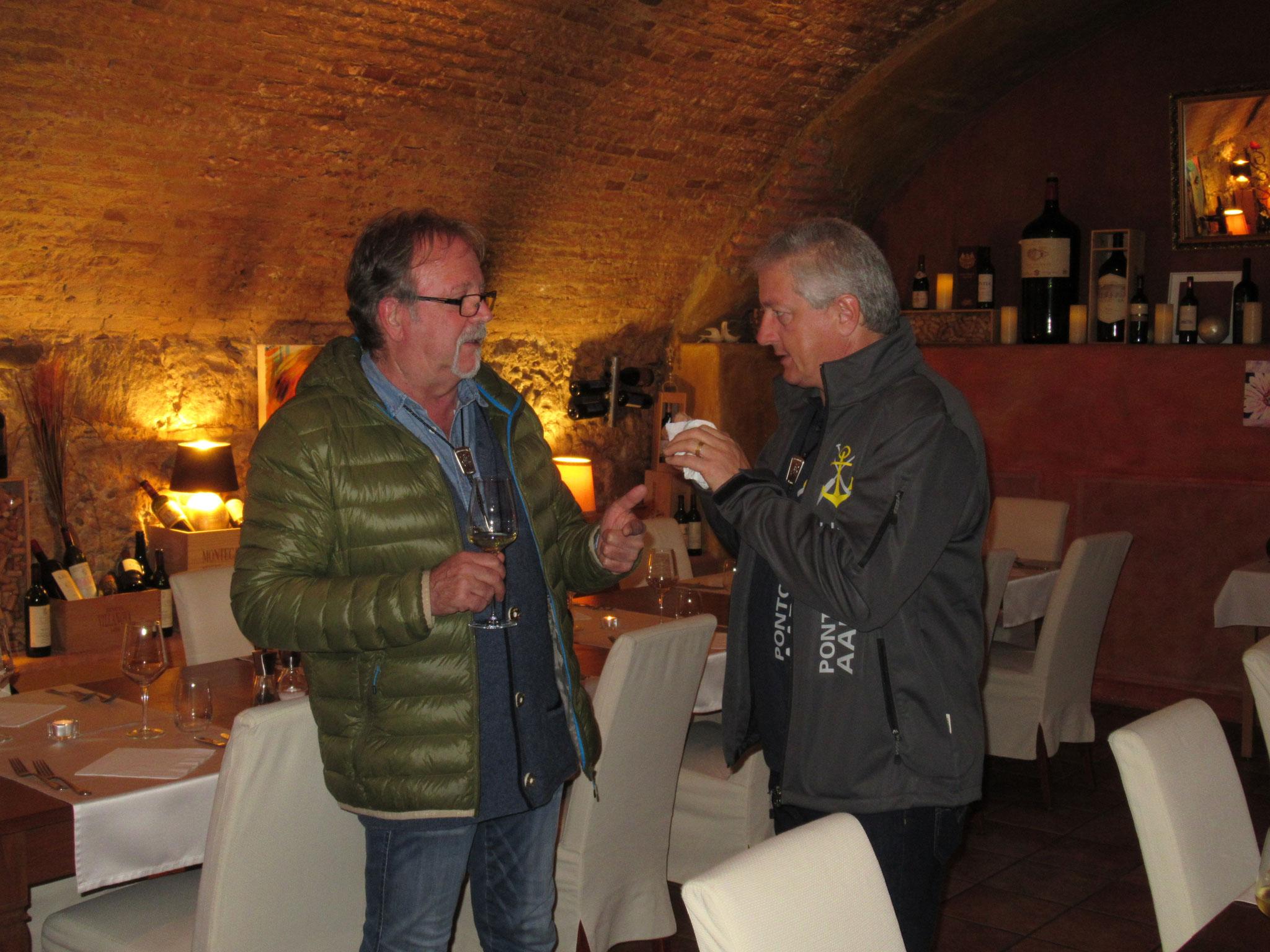 Braumeister Werner Eichenberger mit Dieter Schaub