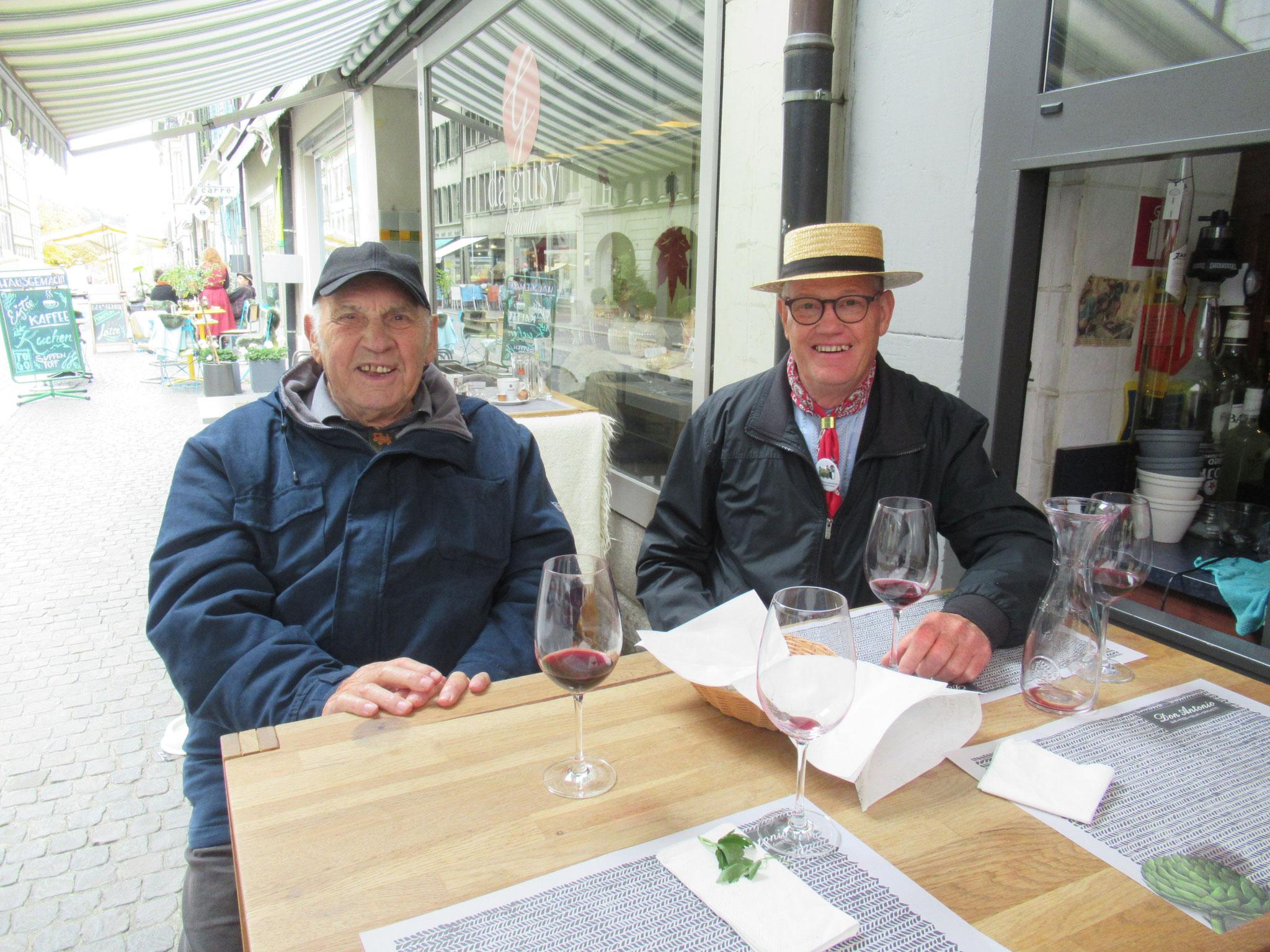 Das Urgestein aus Burgdorf Paul Heymoz und Bernhard Sieber