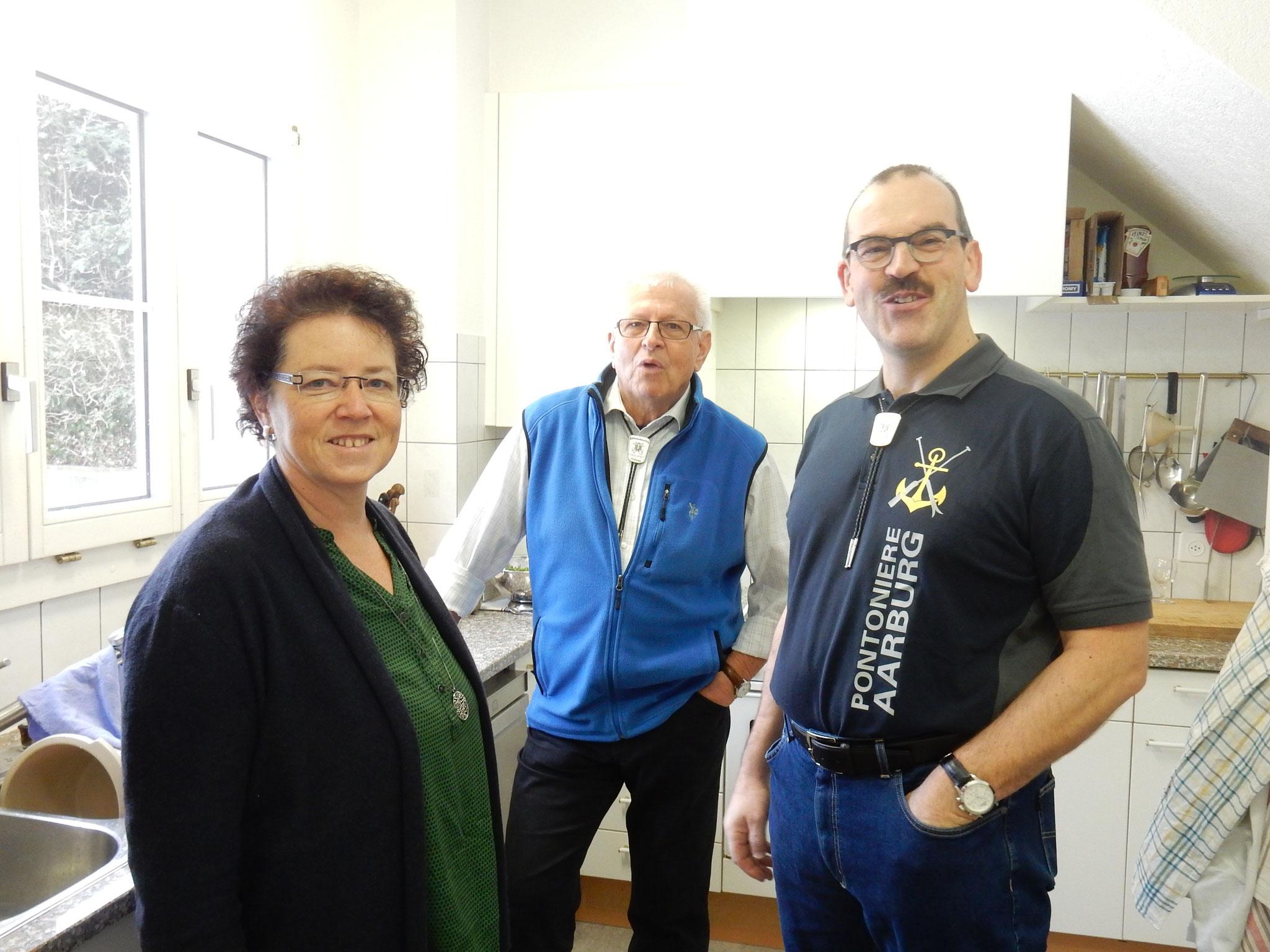 Nathalie Graf, Karl Niedermann und Jörg Graf