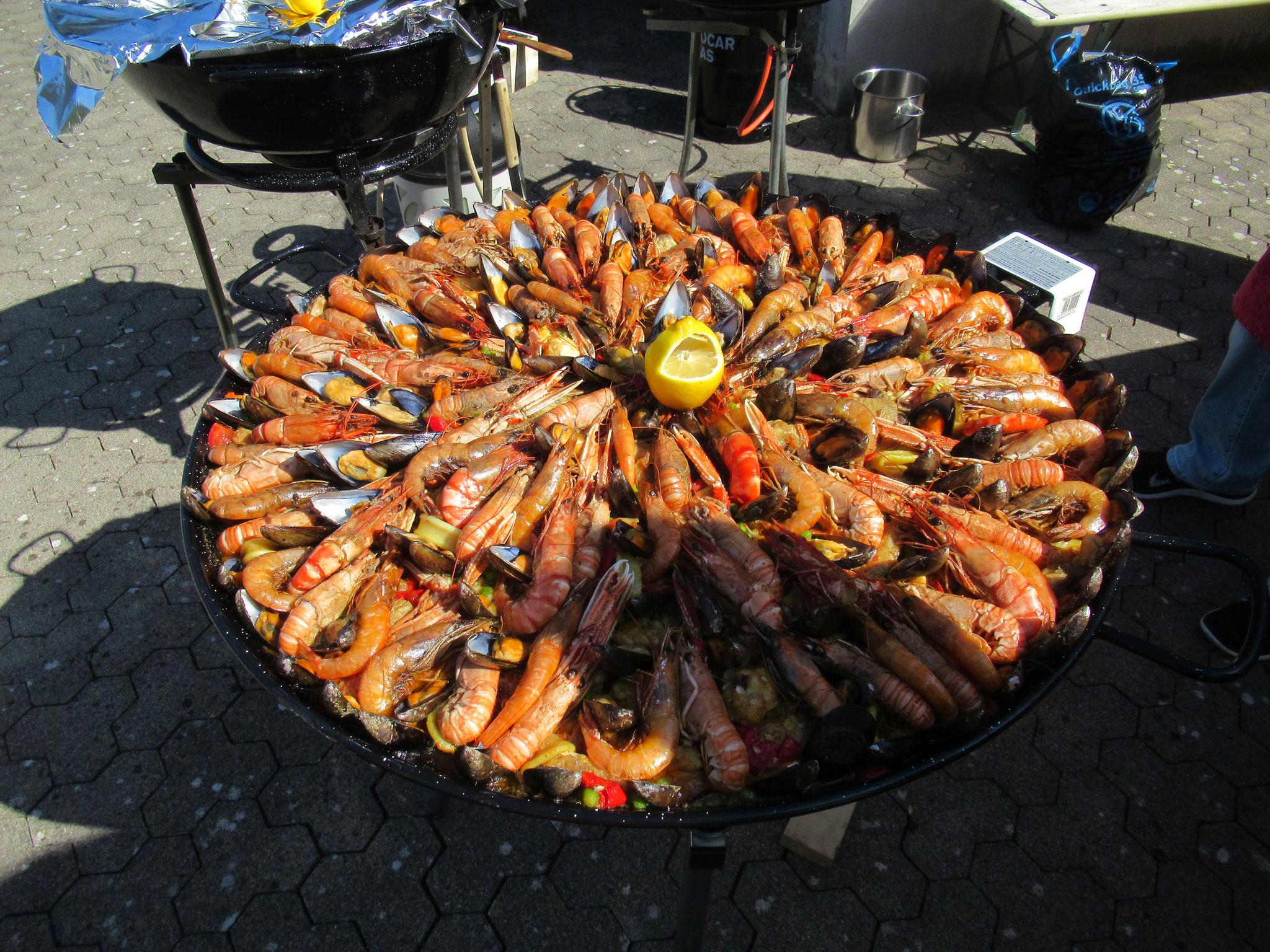 Die original zubereitete Paella