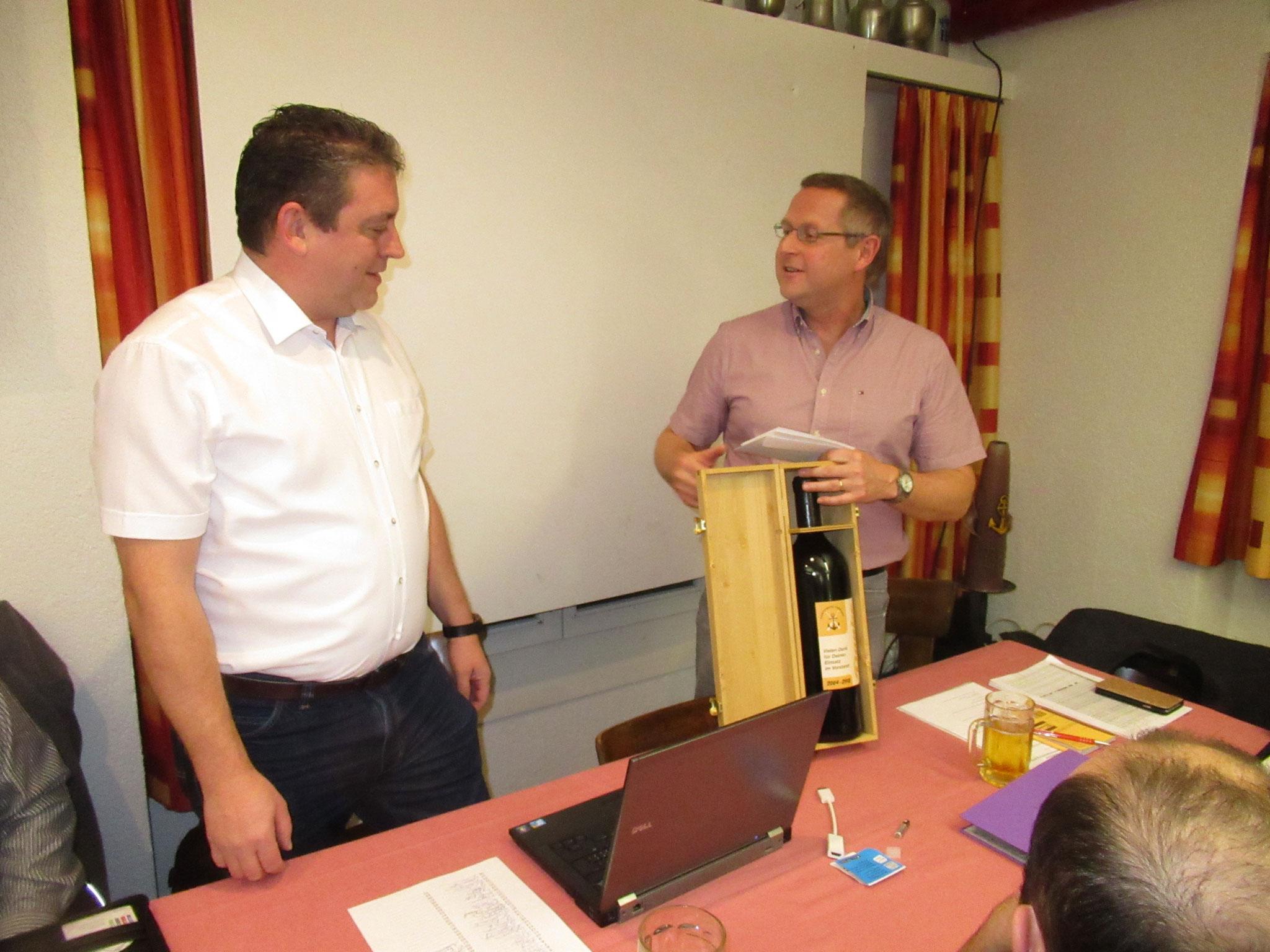Als langjähriger Sekretär wird Martin Bühler aus dem Vorstand verabschiedet