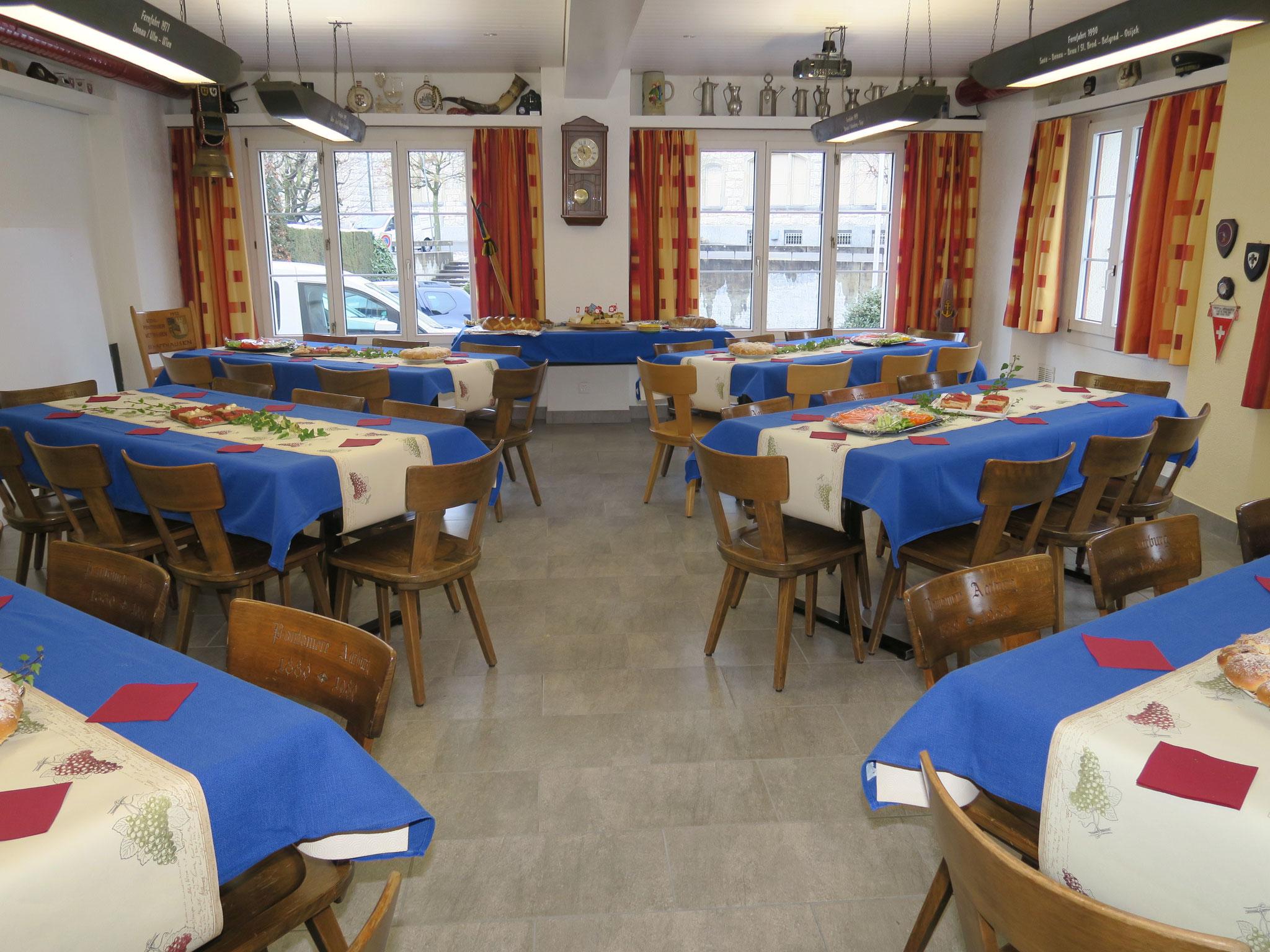 Alles ist bereit die Gäste können kommen.