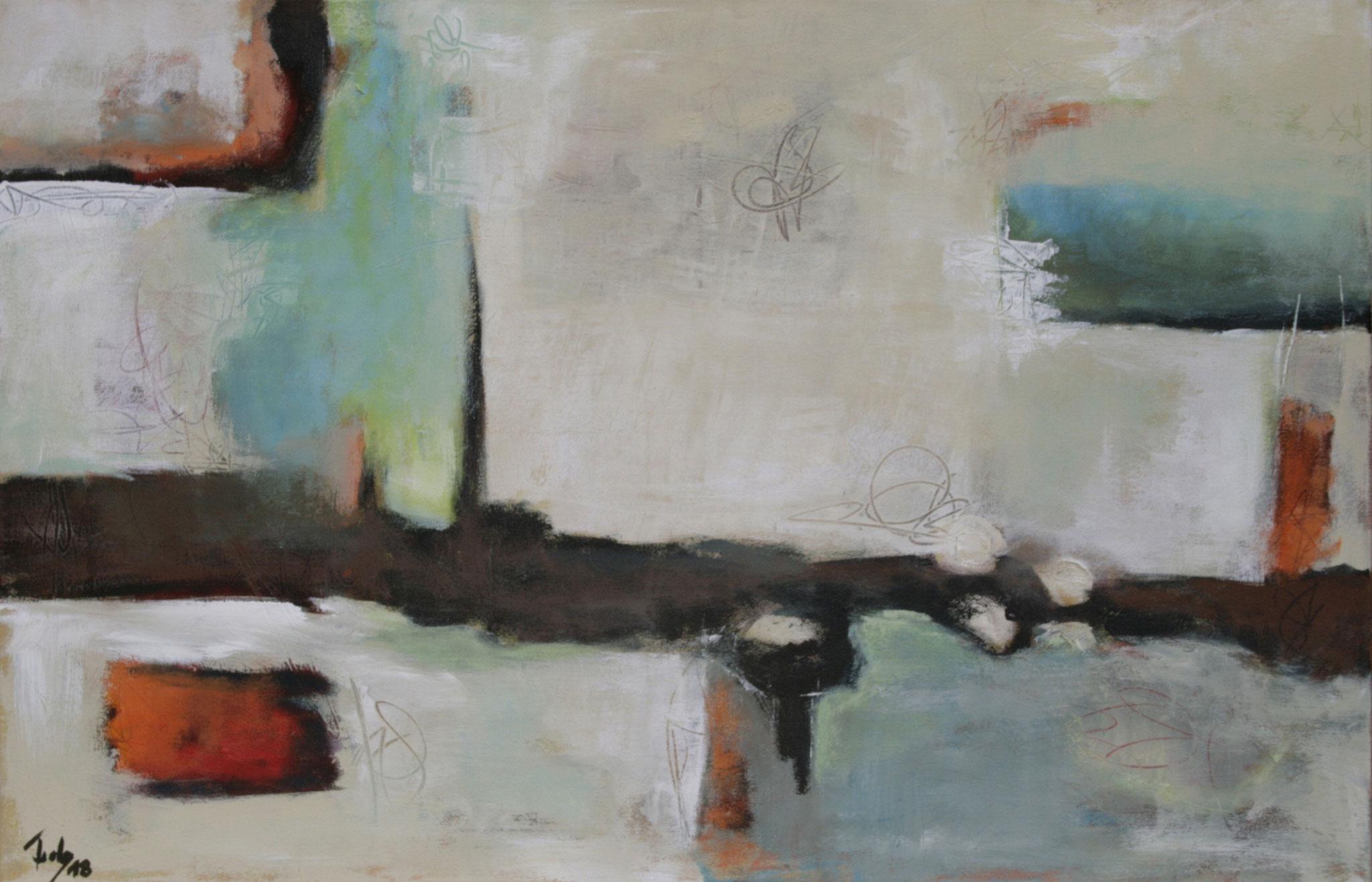 Ohne Titel 1805, Öl und Acryl auf Leinwand, 65 x 90 cm