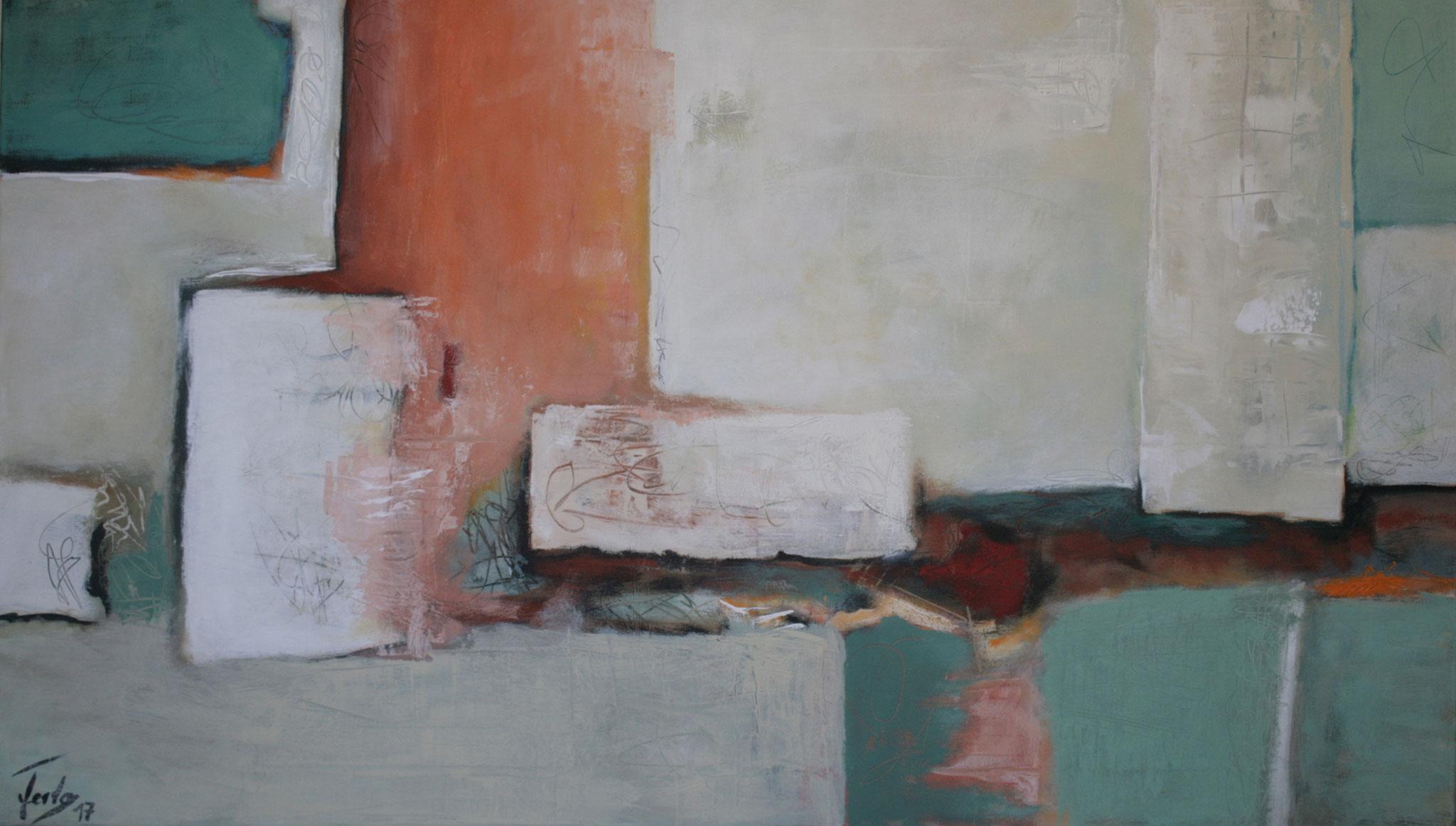 Ohne Titel 1704, Öl und Acryl auf Leinwand, 80 x 140 cm