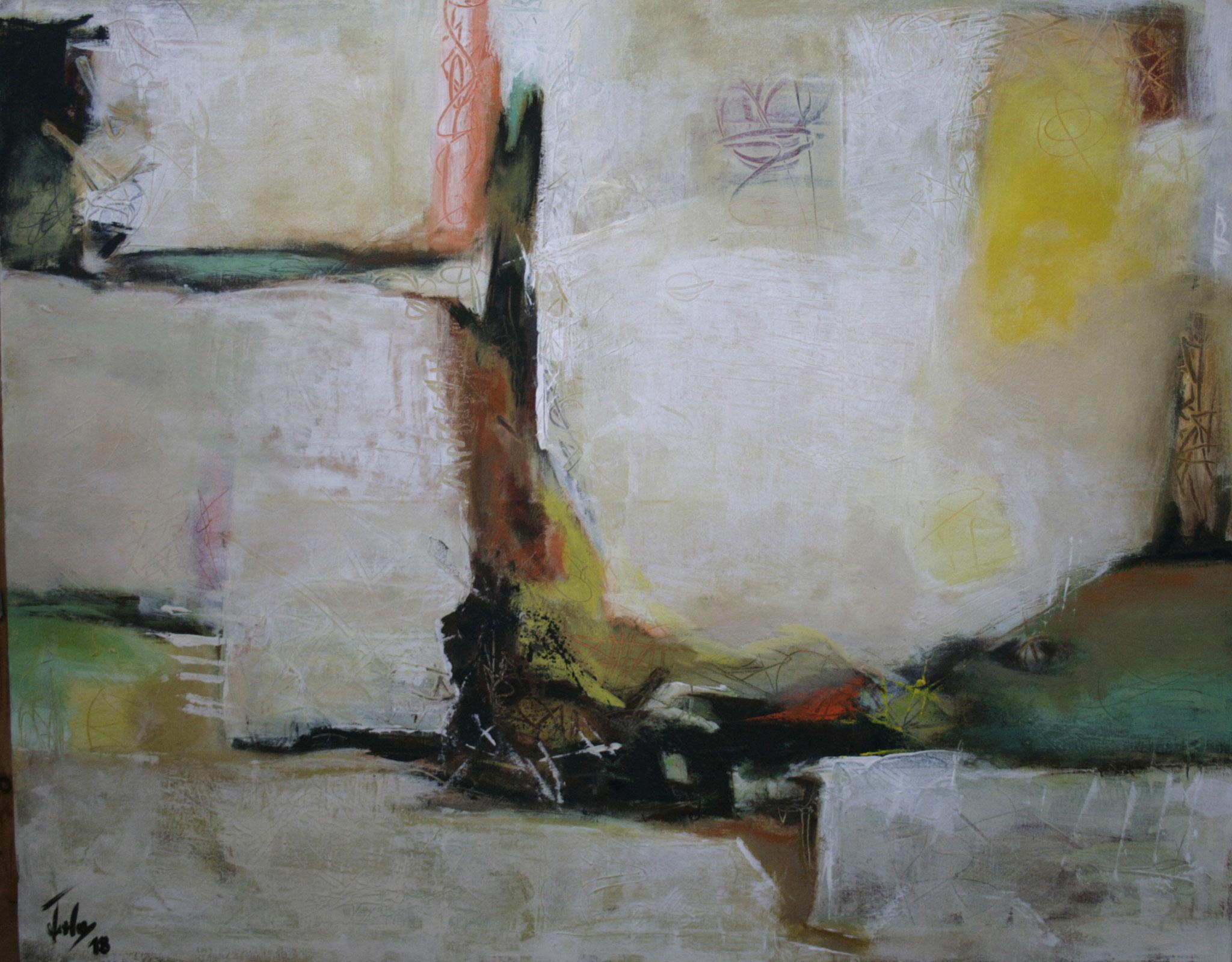 Ohne Titel 1806, Öl und Acryl auf Leinwand, 80 x 100 cm