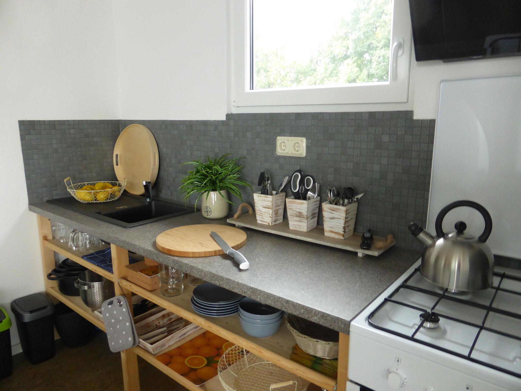 Küche, Haus auf dem See