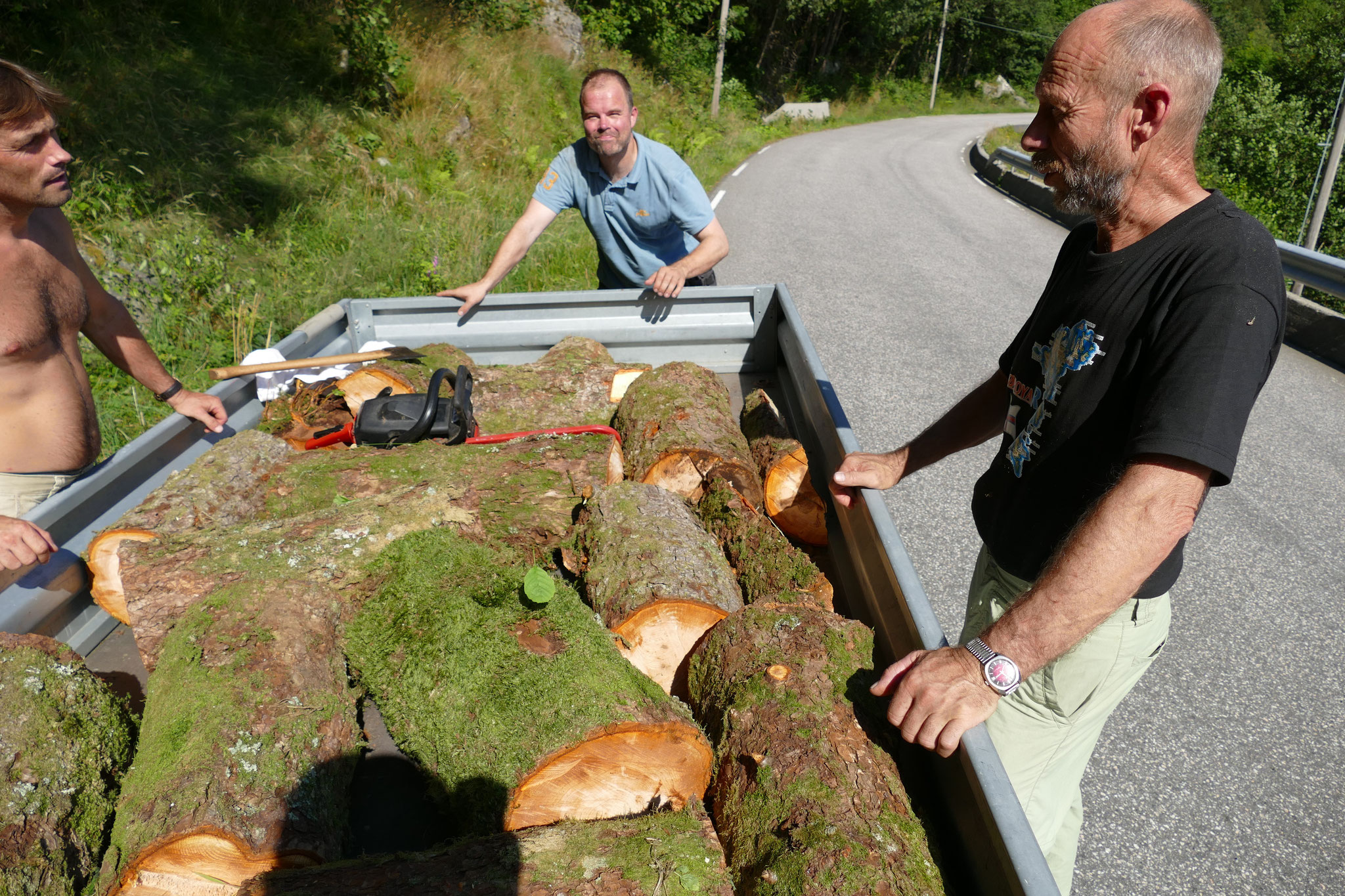 Bringing home the wood from Osterøy