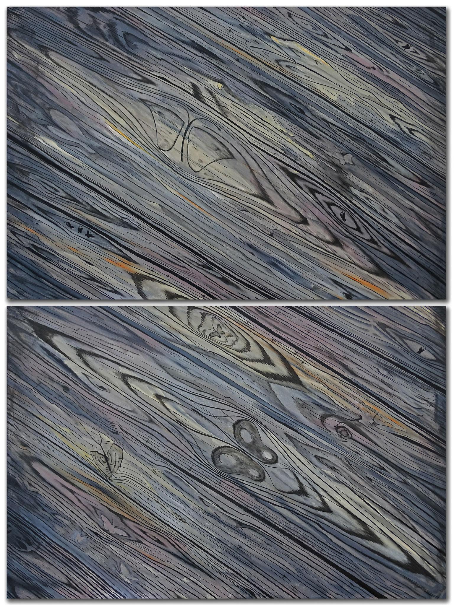 Holz II , 2x 100x150 cm