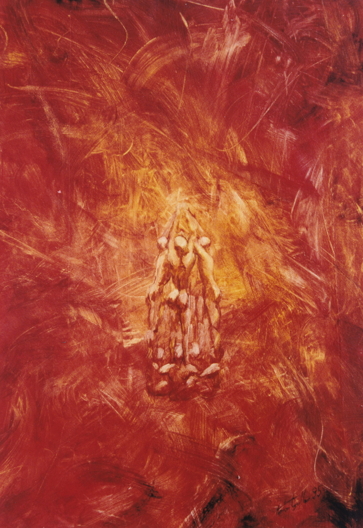 Knospe II, Öl auf Leinwand, 70x50 cm