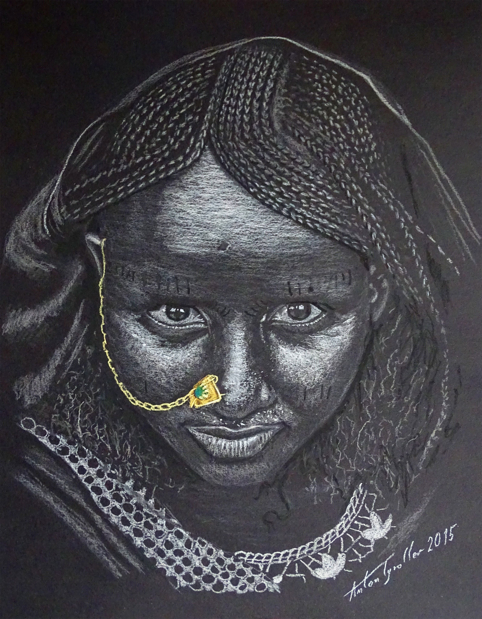 Äthiopien II, 40x30 cm