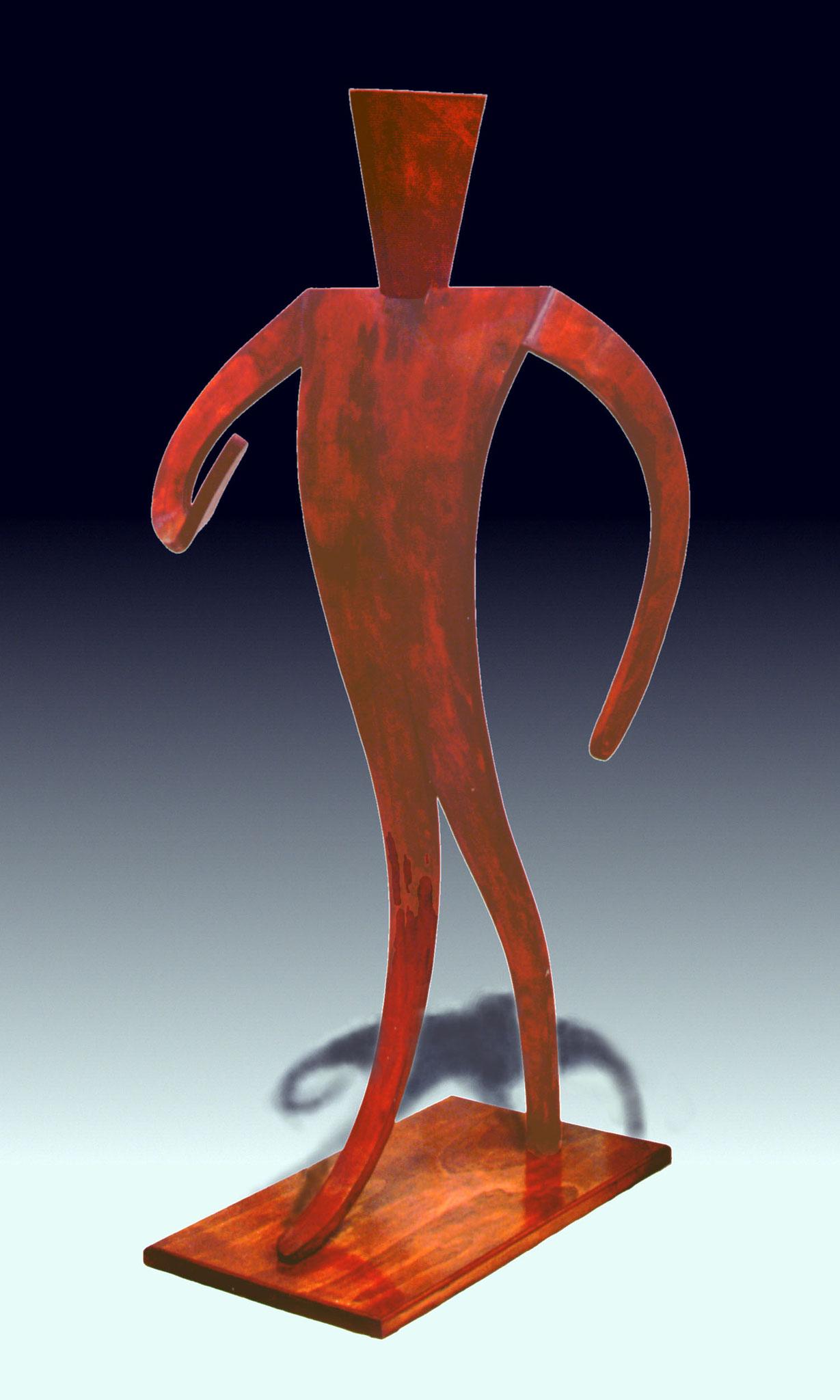 Tenor, 1994, verleimtes Pappelholz, 180x80x100 cm