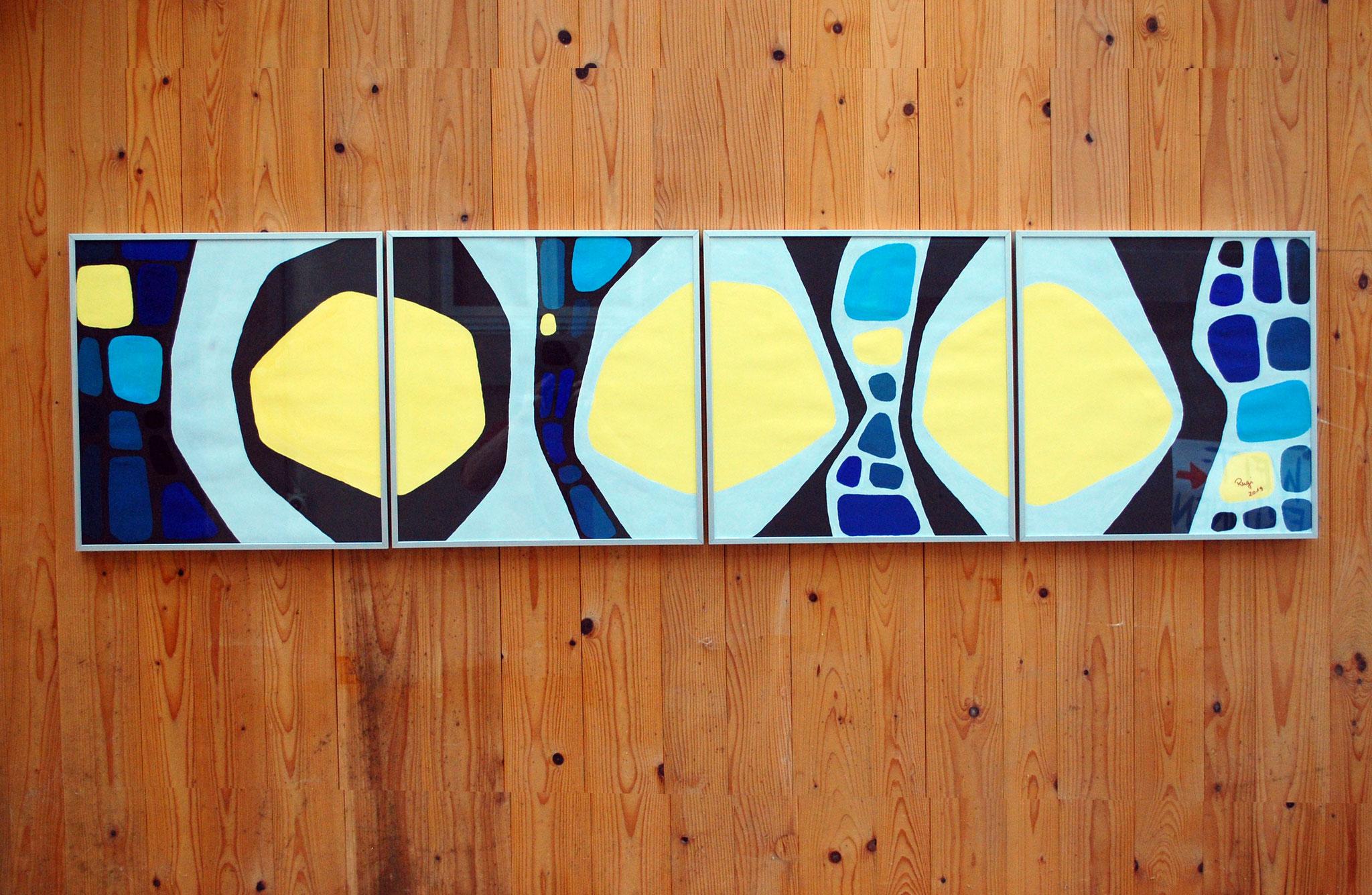 Gouache auf Papier | 4 x 45 x 45 cm | 2019