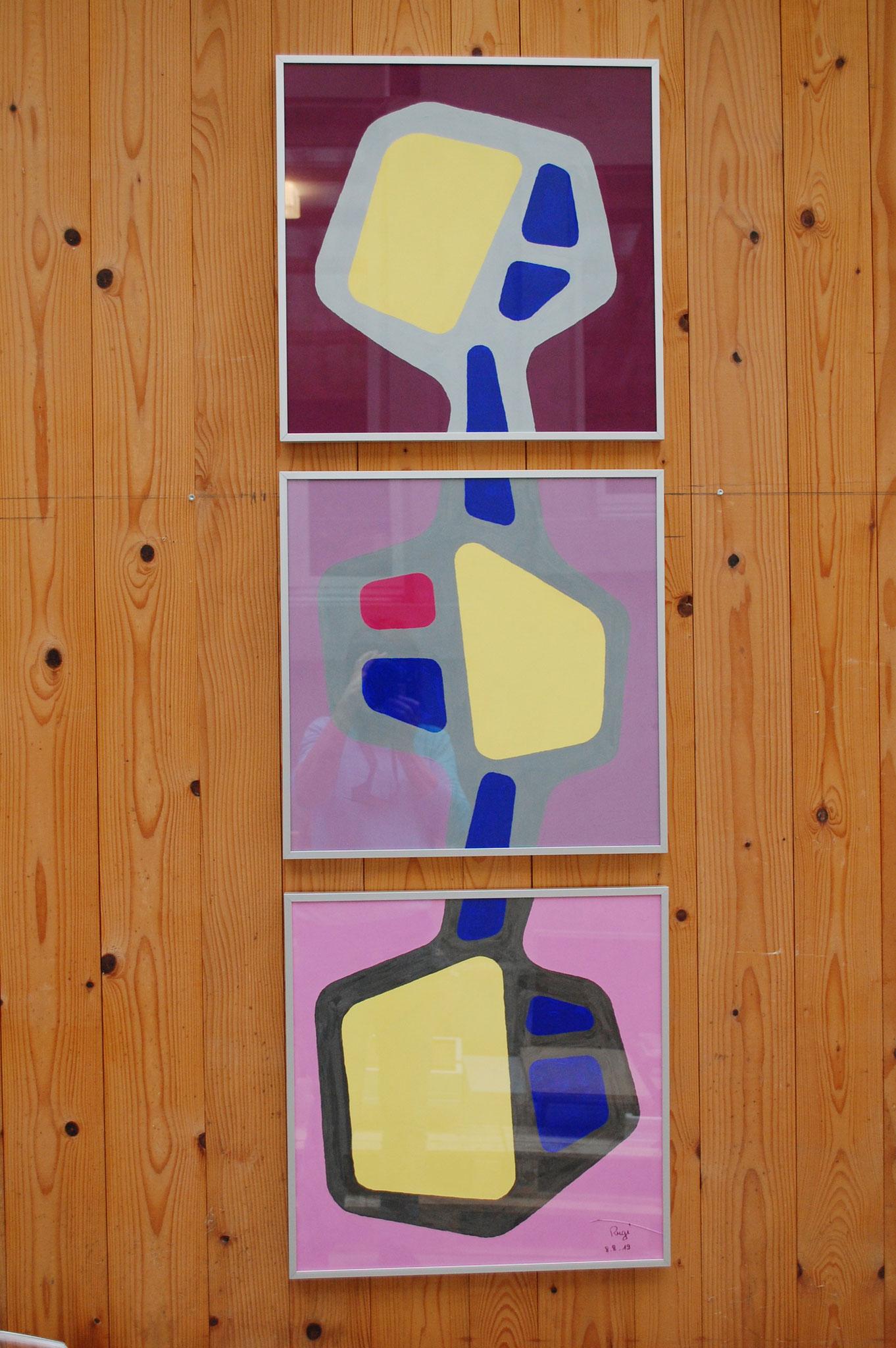 Gouache auf Papier | 3x 45 x 45 cm | 2019