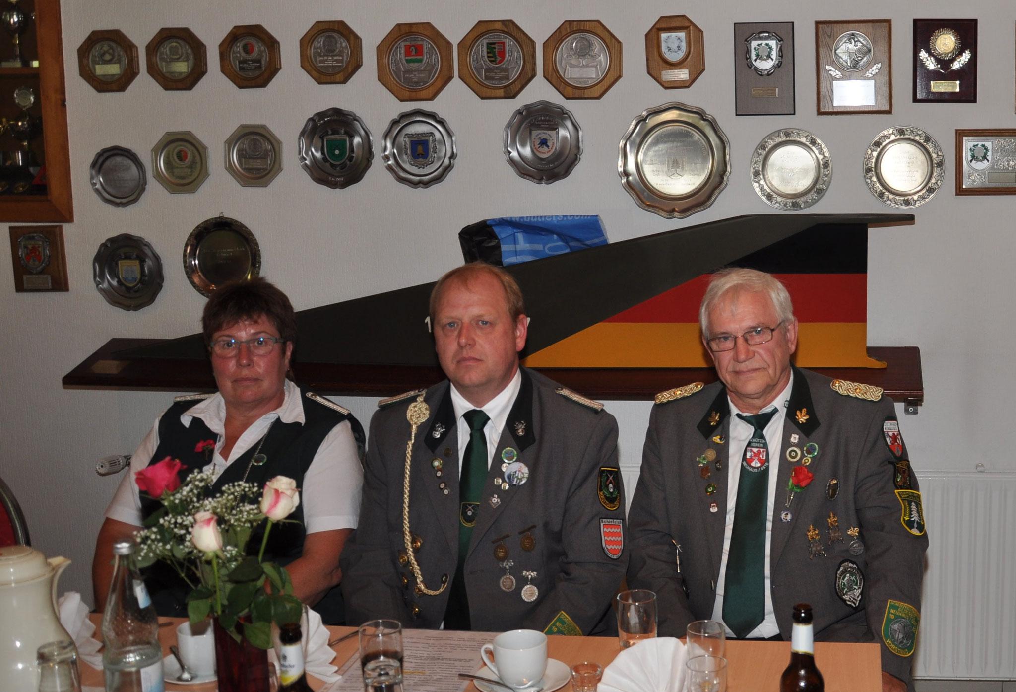 Die Abordnung vom Schützenverband Altkreis Neuhaus-Oste e.V.
