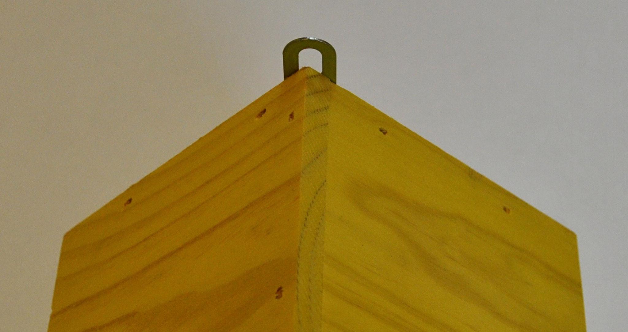 Crochet métalique inox pour suspendre la maisonnette-mangeoire
