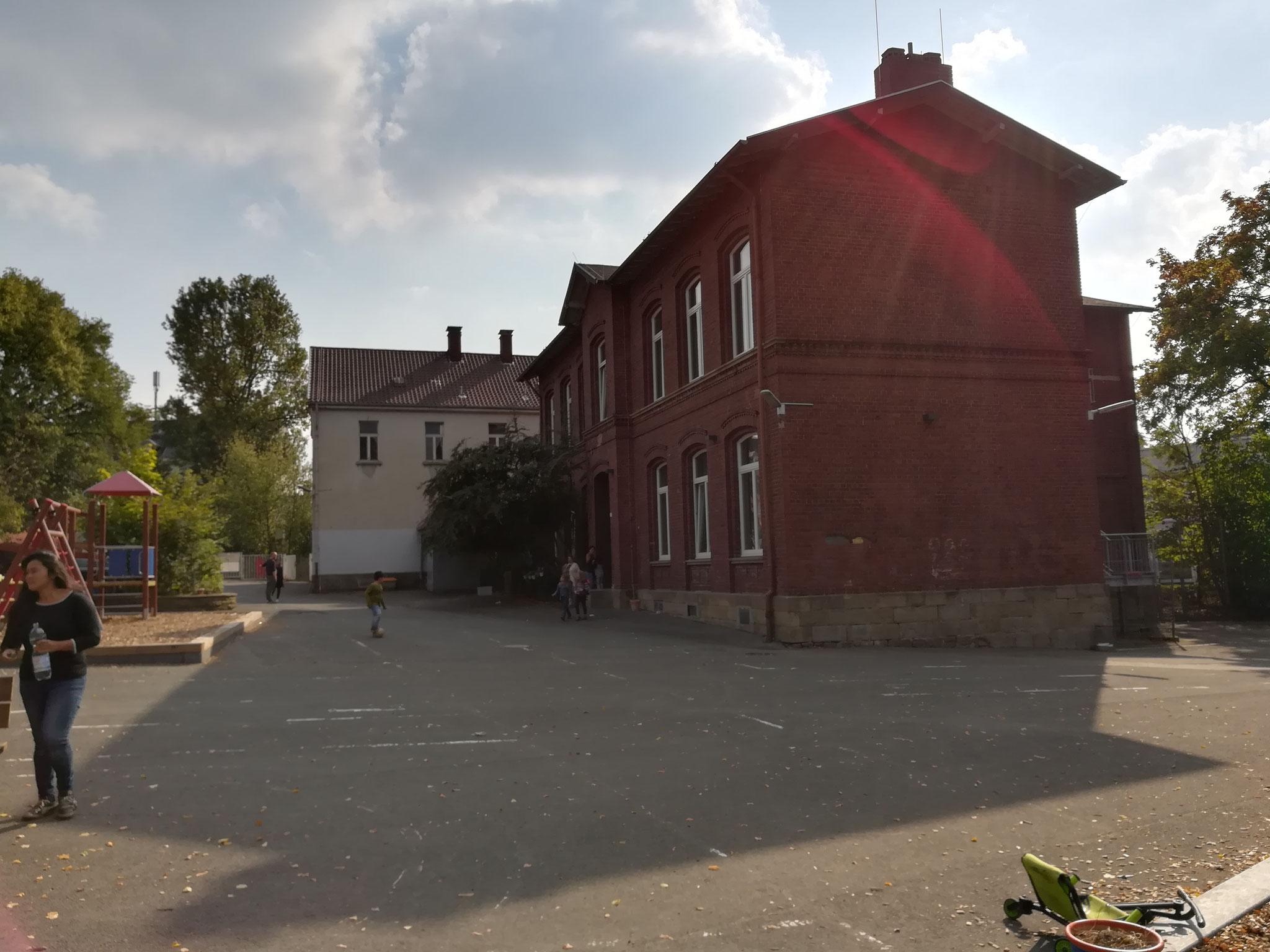 Seitenansicht des Gebäudes