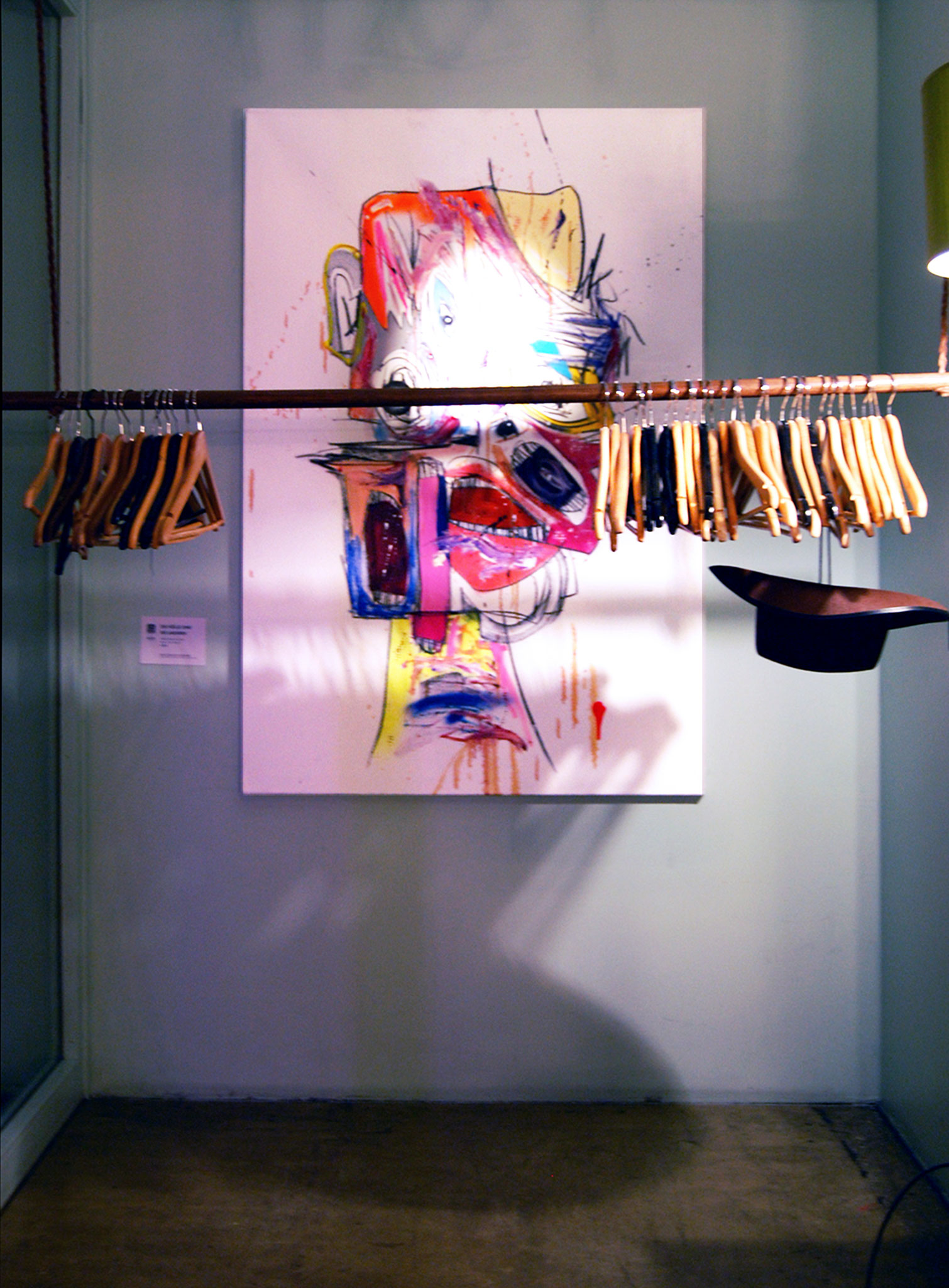 DIE HÖLLE SIND DIE ANDEREN, 2018, mixed media on canvas, 150x100cm